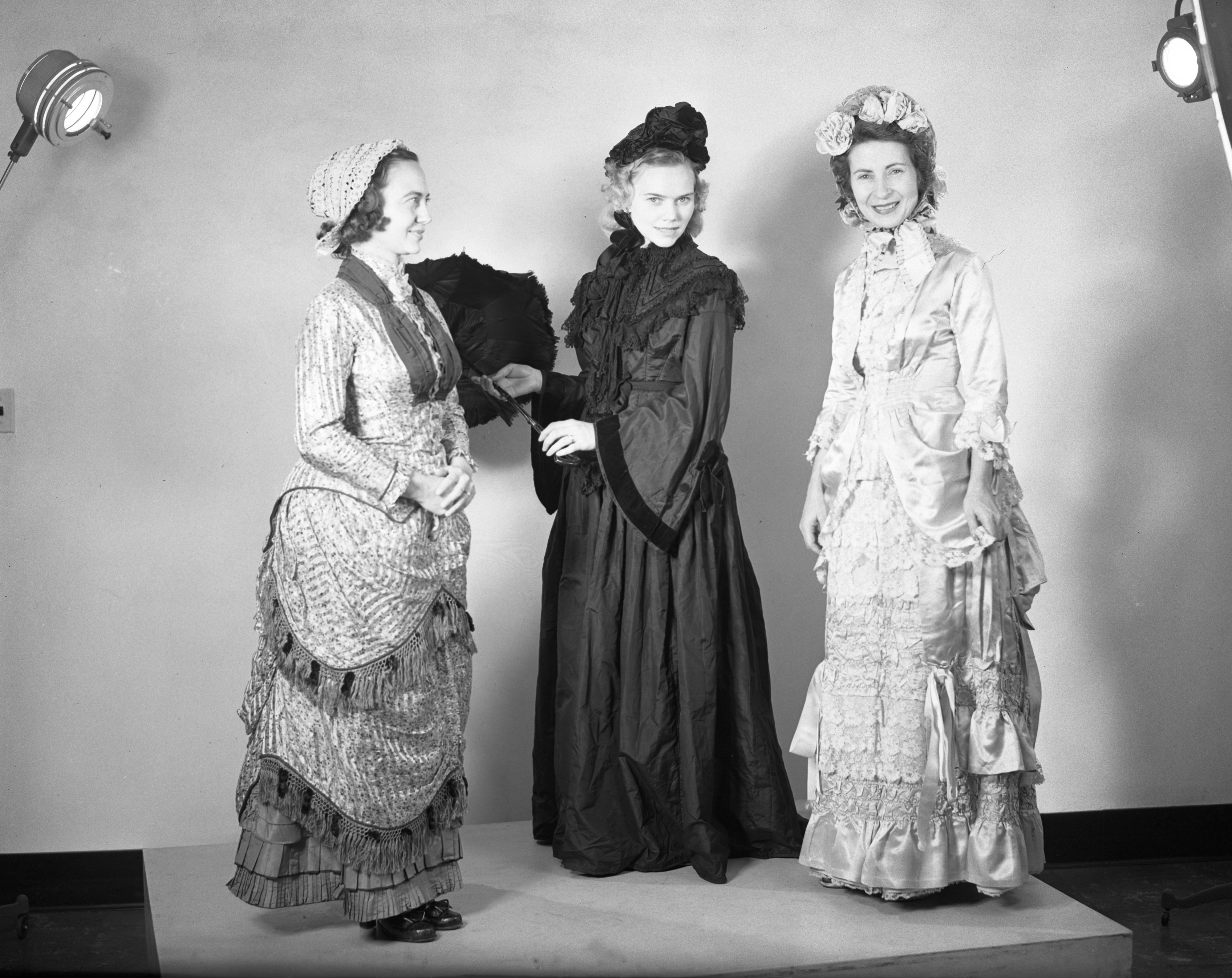 Women in Period Costumes for Congregational Church Bazaar, November 1948 image