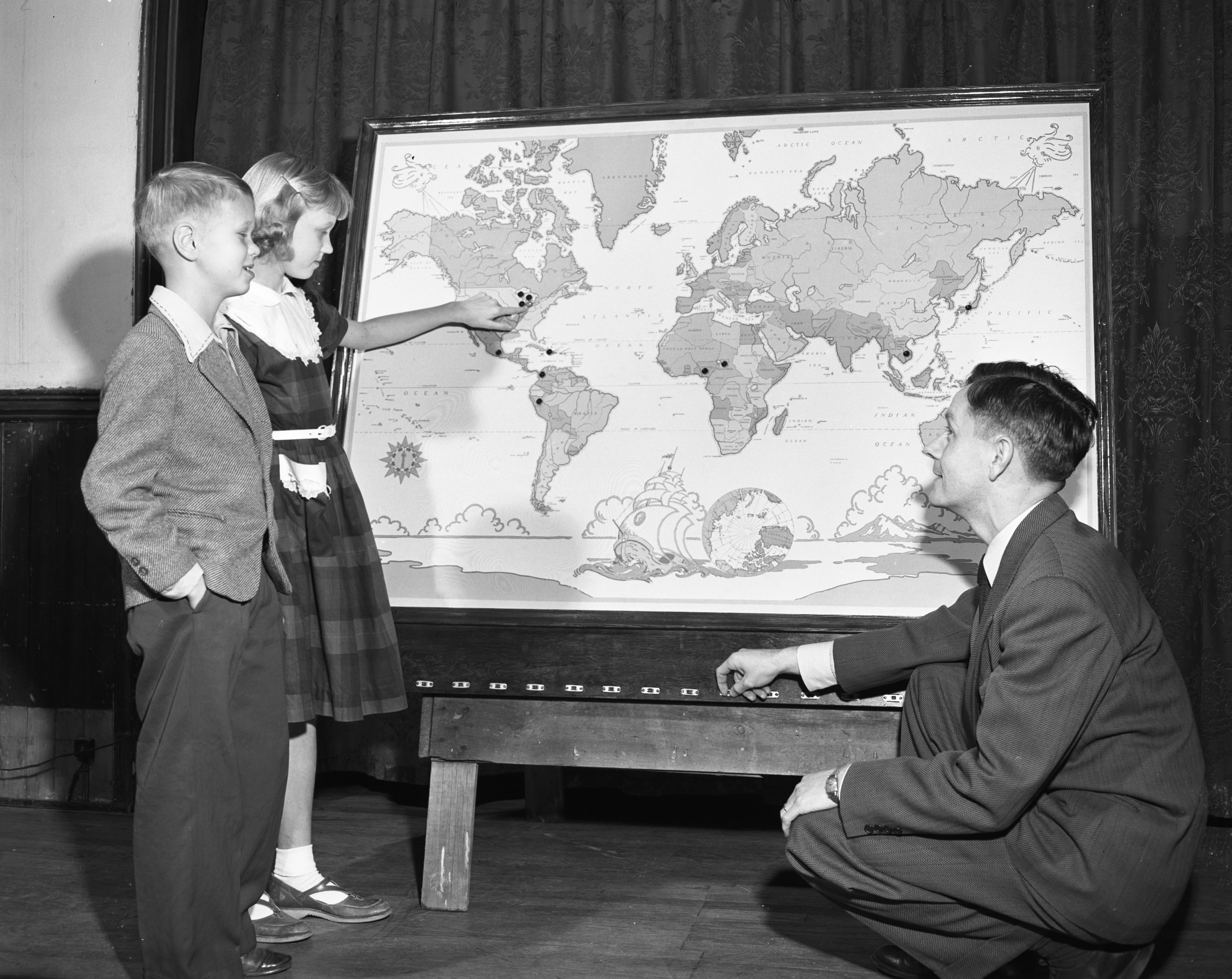 Electrical Map at Grace Bible School and Church, November 1951 image