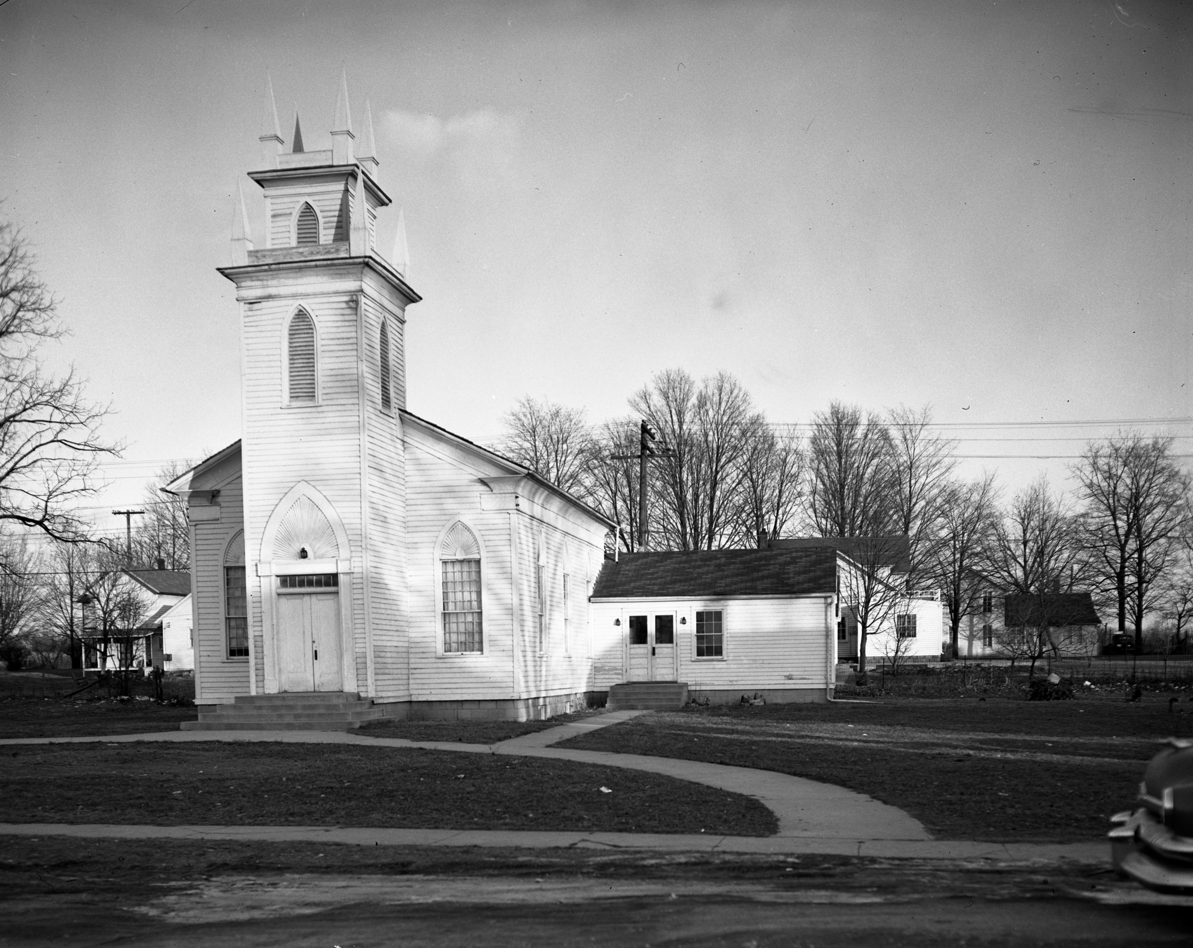 Hamburg Episcopal Church With Addition, 1951 image