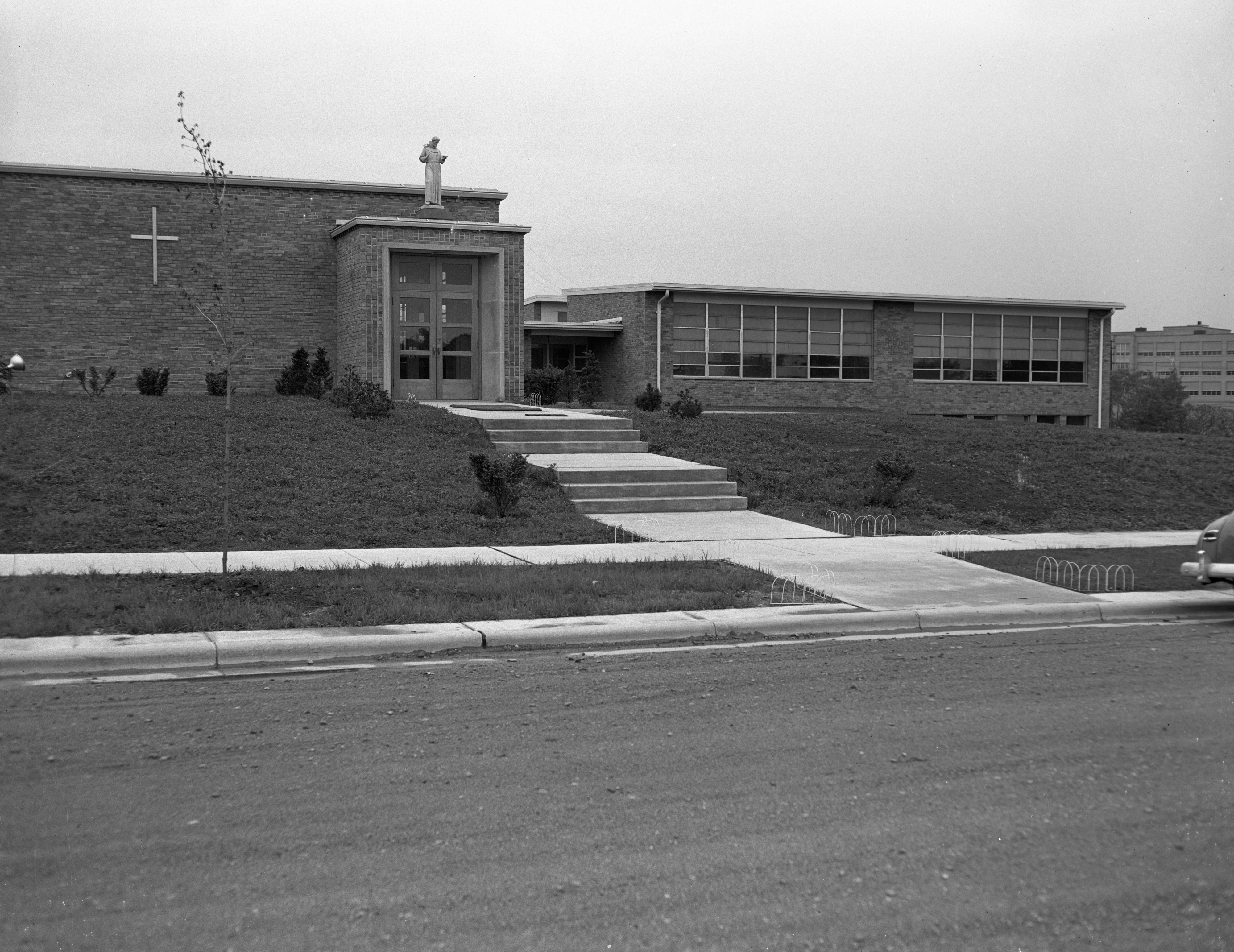 St. Francis of Assisi Church and School, May 1952 image