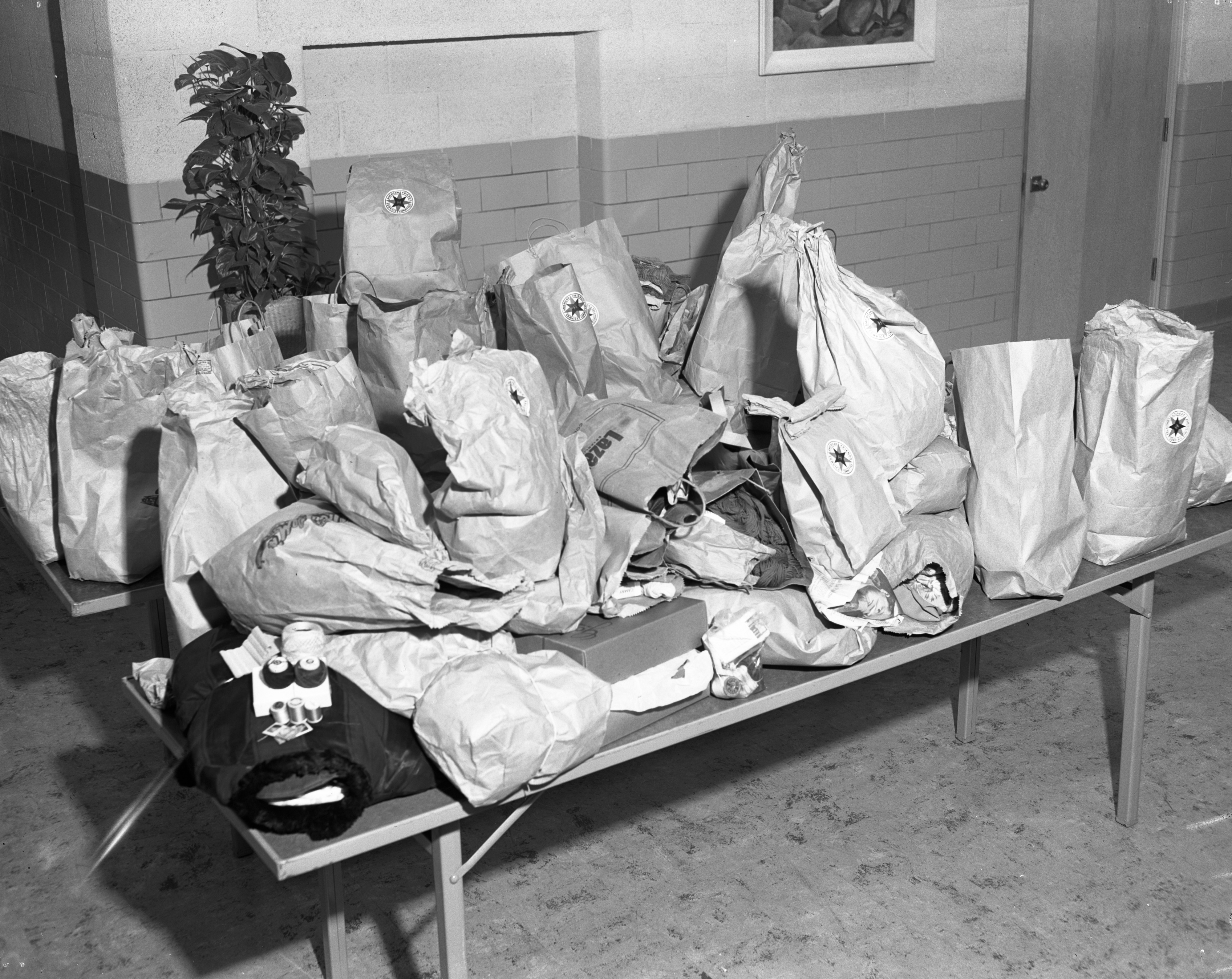 "American Friends Service Committee Halloween ""Loot"" at Eberwhite School, November 1953 image"