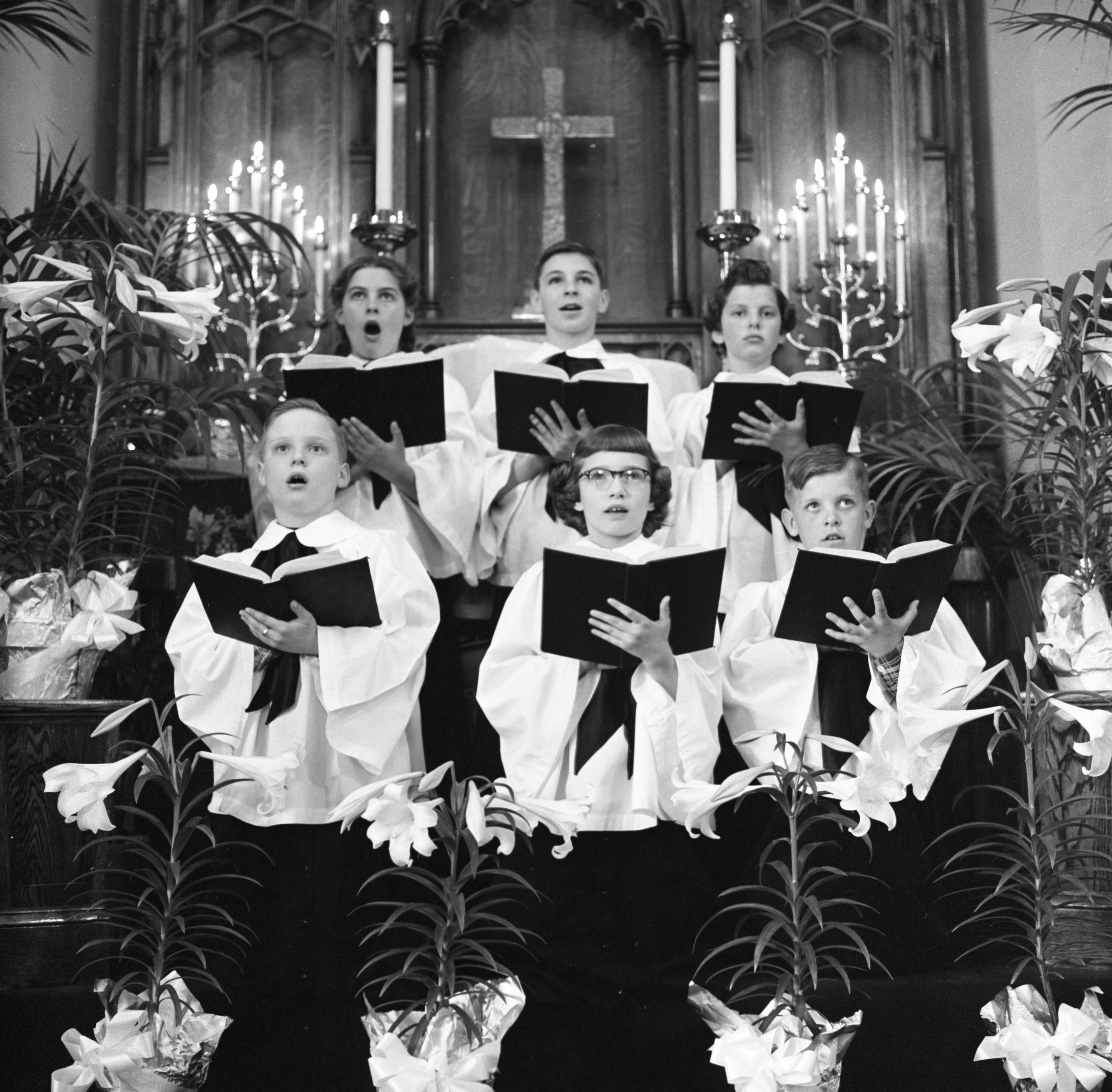 Zion Lutheran Church Children's Choir - Easter, March 1955 image