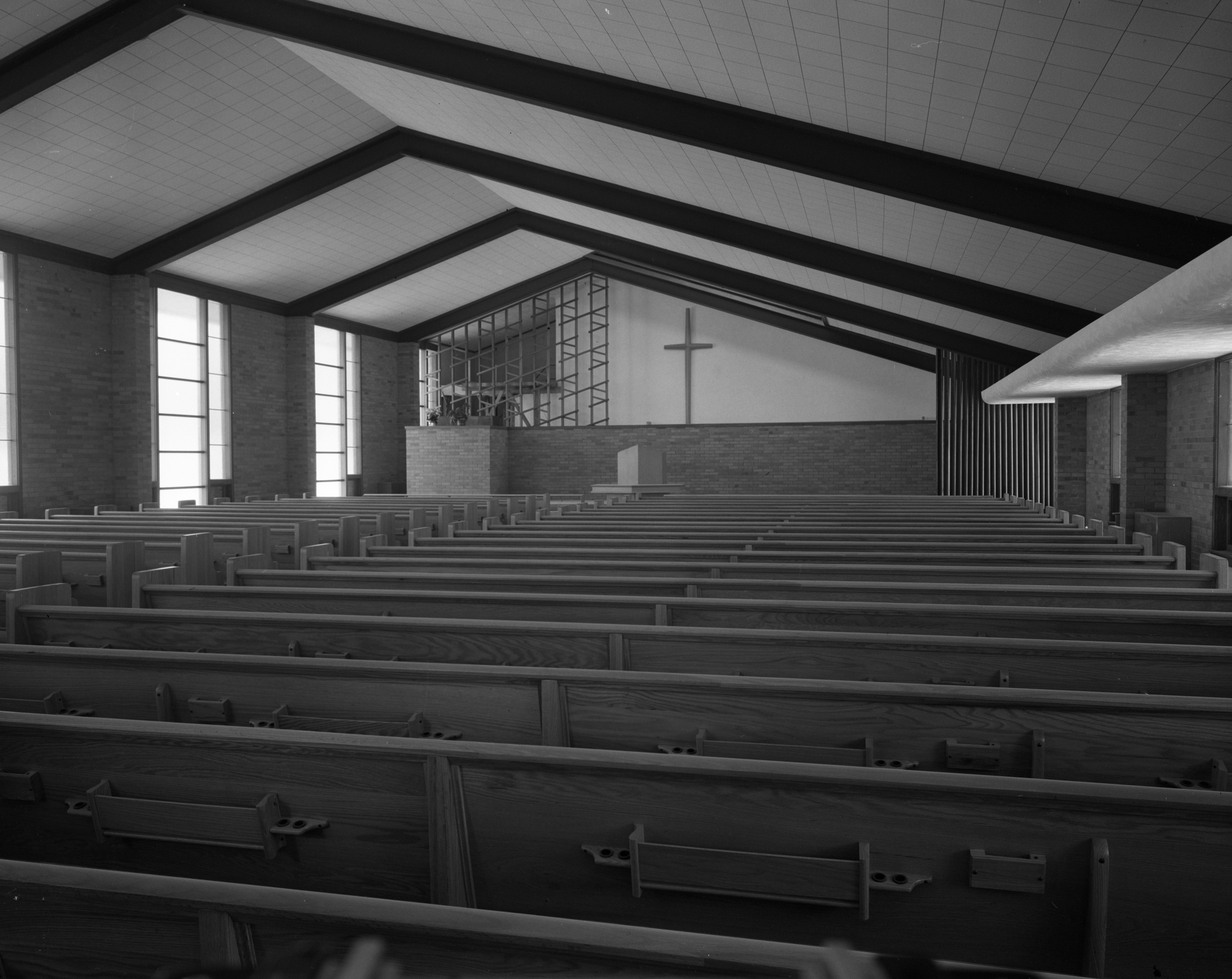 Interior of Evangelical United Brethren Church, March 1956 image