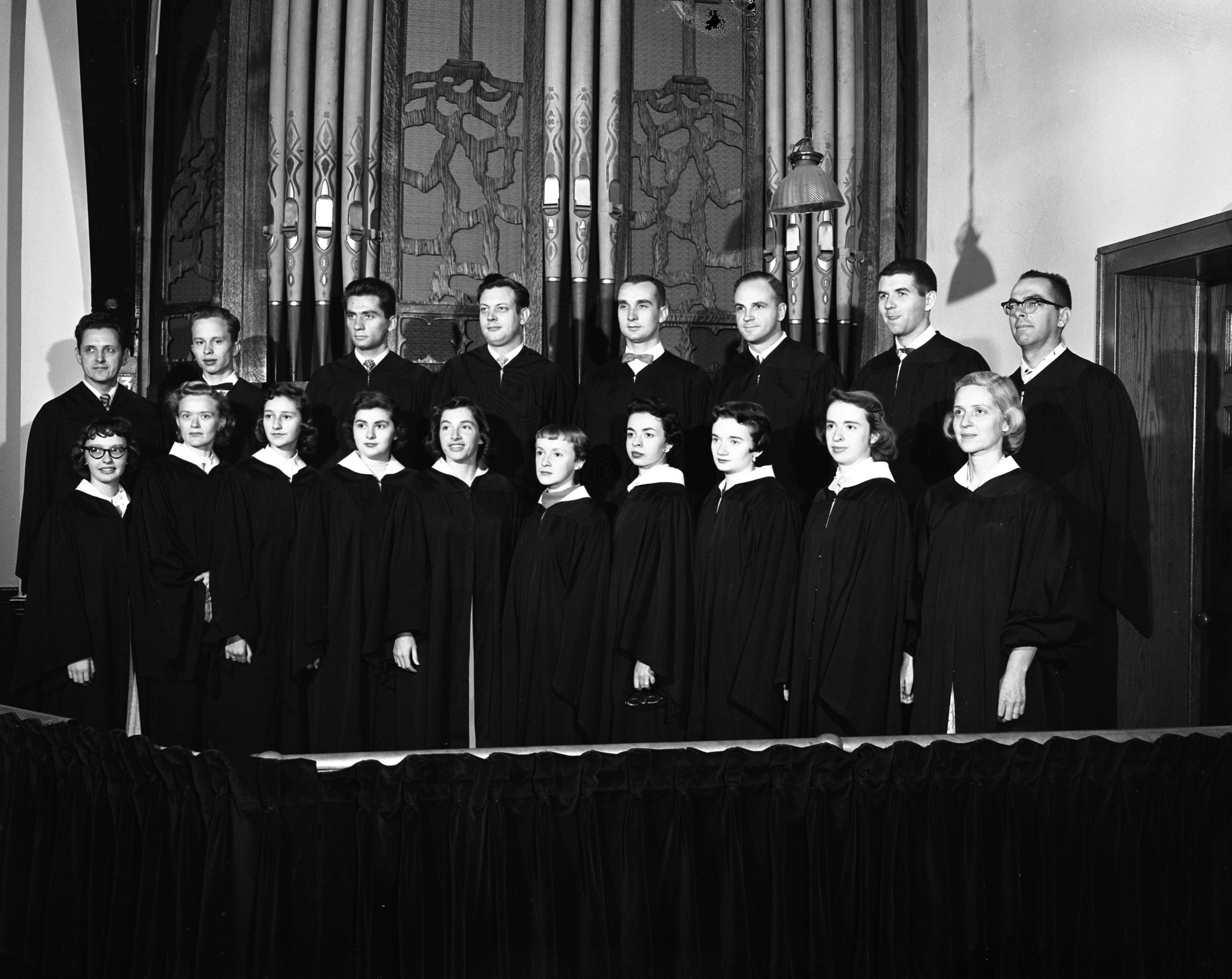 Memorial Christian Church Choir, October 1956 image