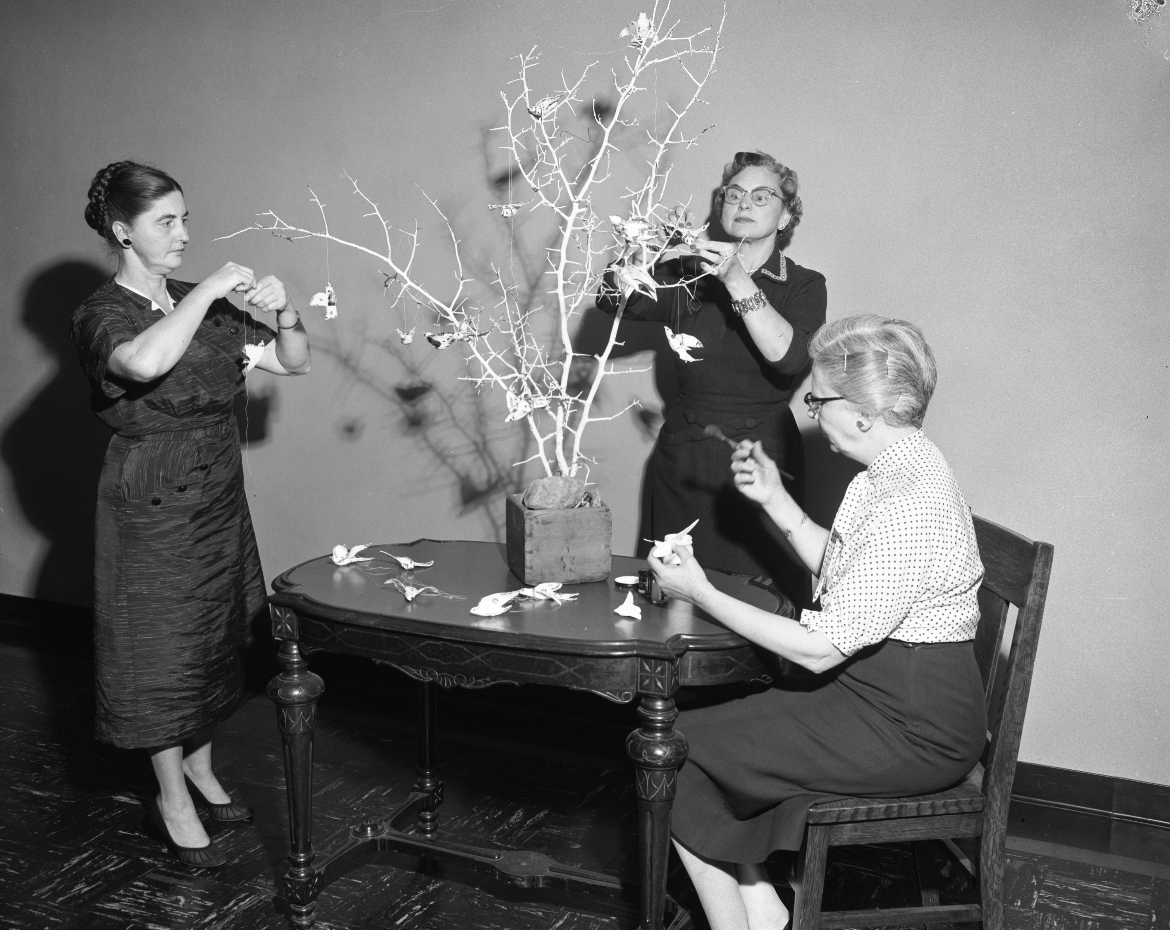 Women Preparing for First Congregational Church Christmas Bazaar, November 1956 image