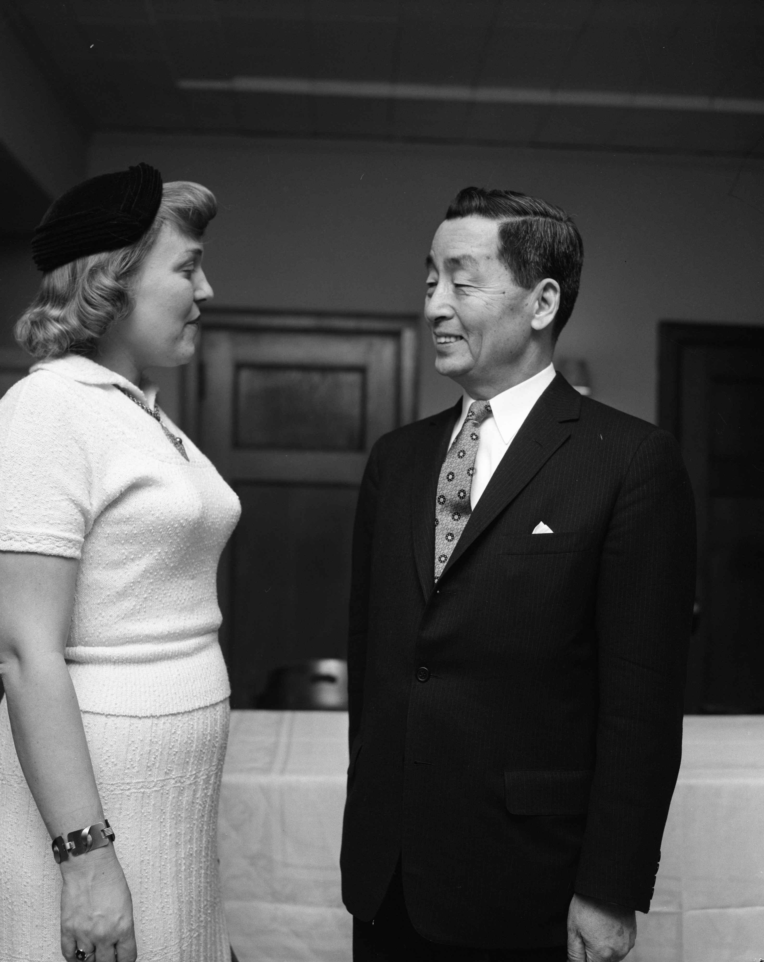 Ben C. Limb, Minister of Foreign Affairs for Korea, and Lucy Stephenson, March 1960 image