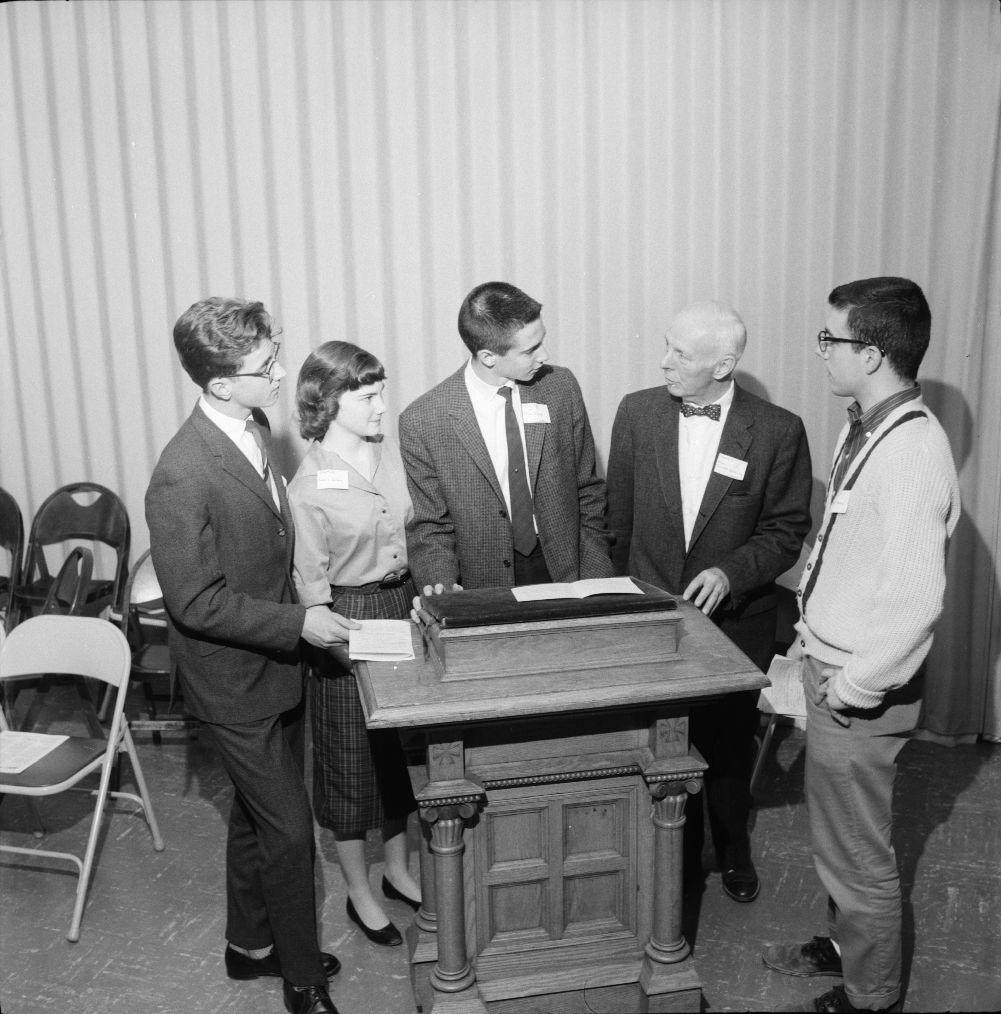 High School Students Attend Christian Citizens in Training Conference at Trinity Evangelical Lutheran Church, May 1960 image