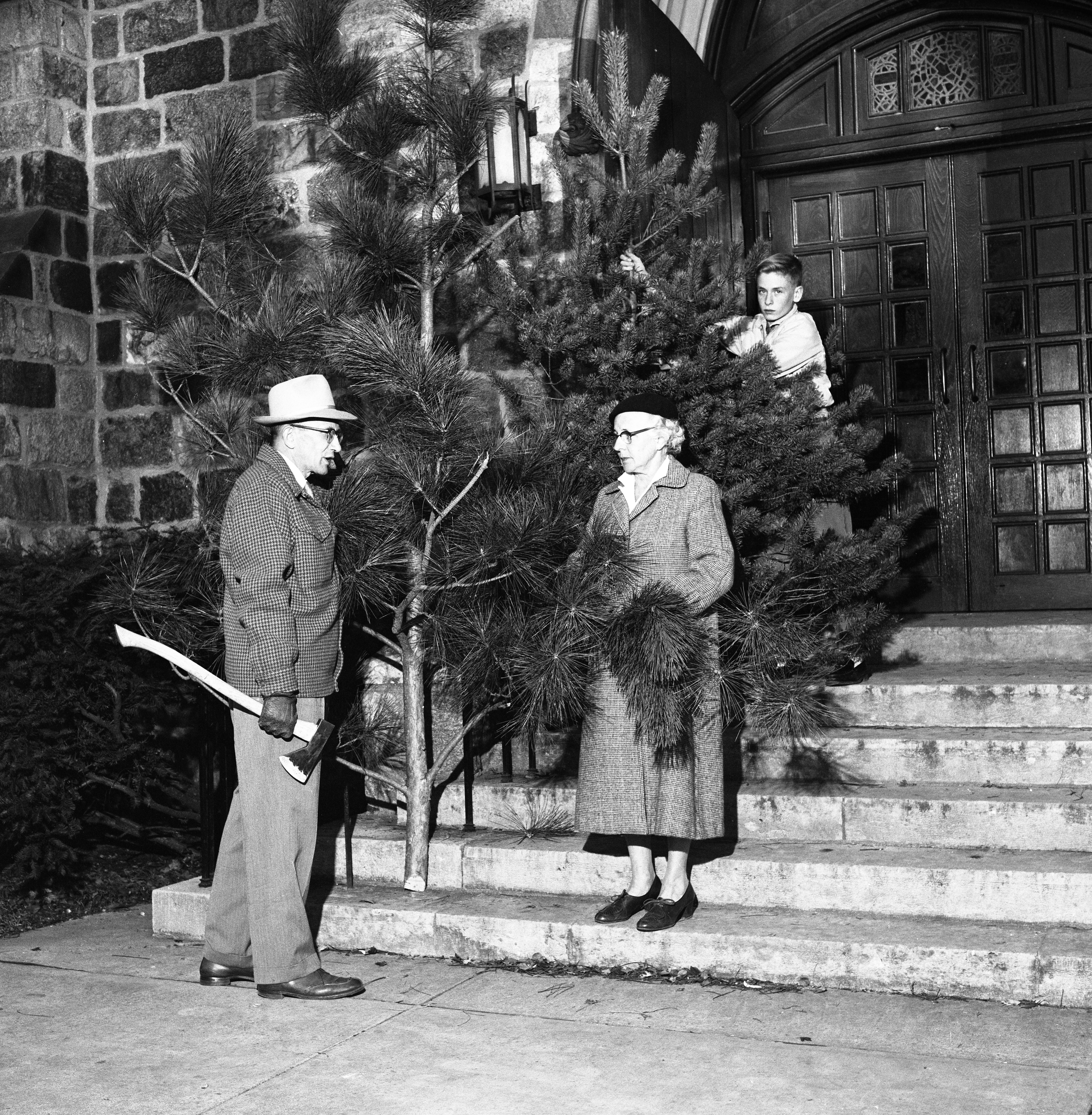 St. Andrew's Episcopal Church Parish Hall To Be Decorated With Christmas Trees, November 1960 image