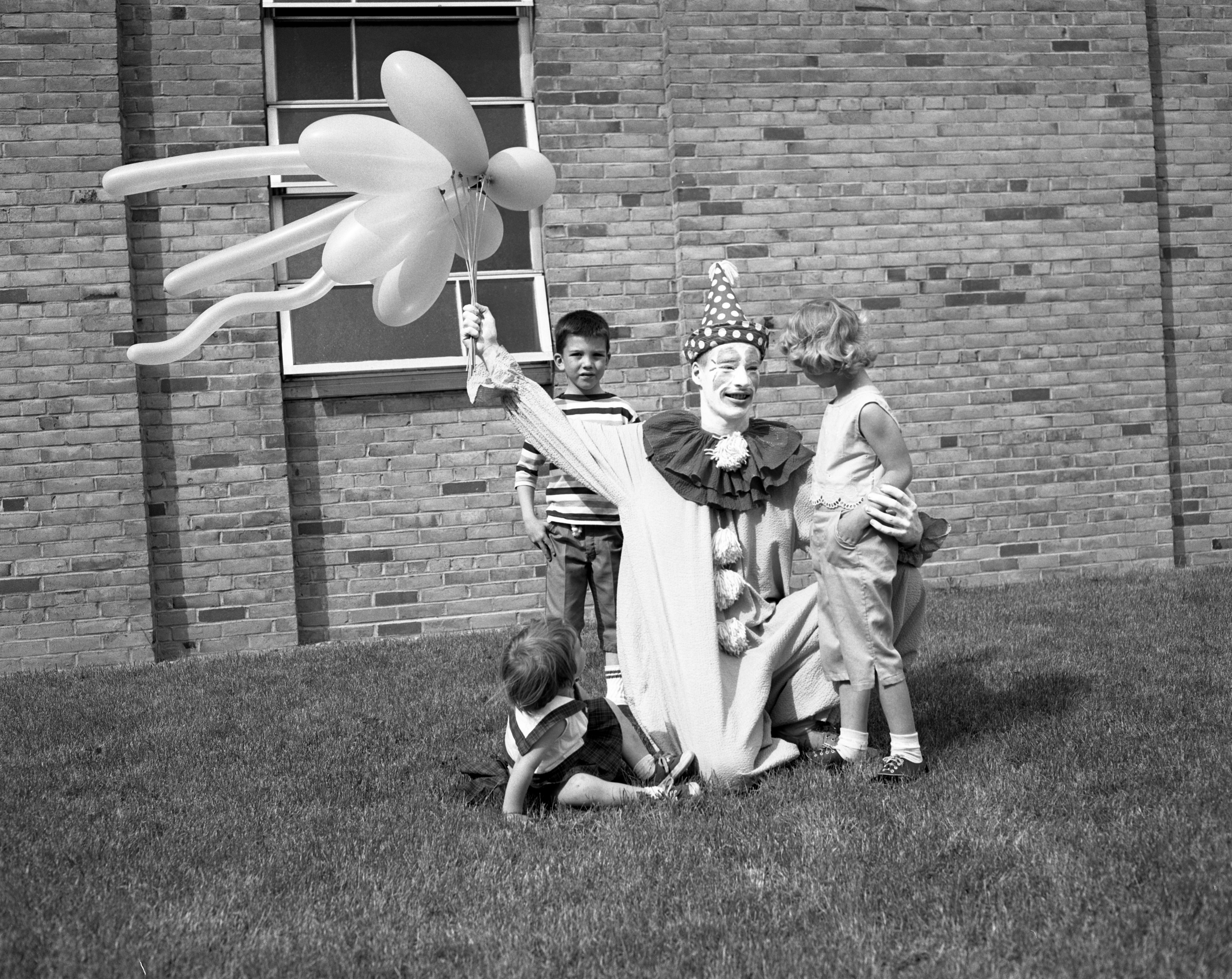 Clown At St. Francis Of Assisi Children's Carnival, June 1961 image