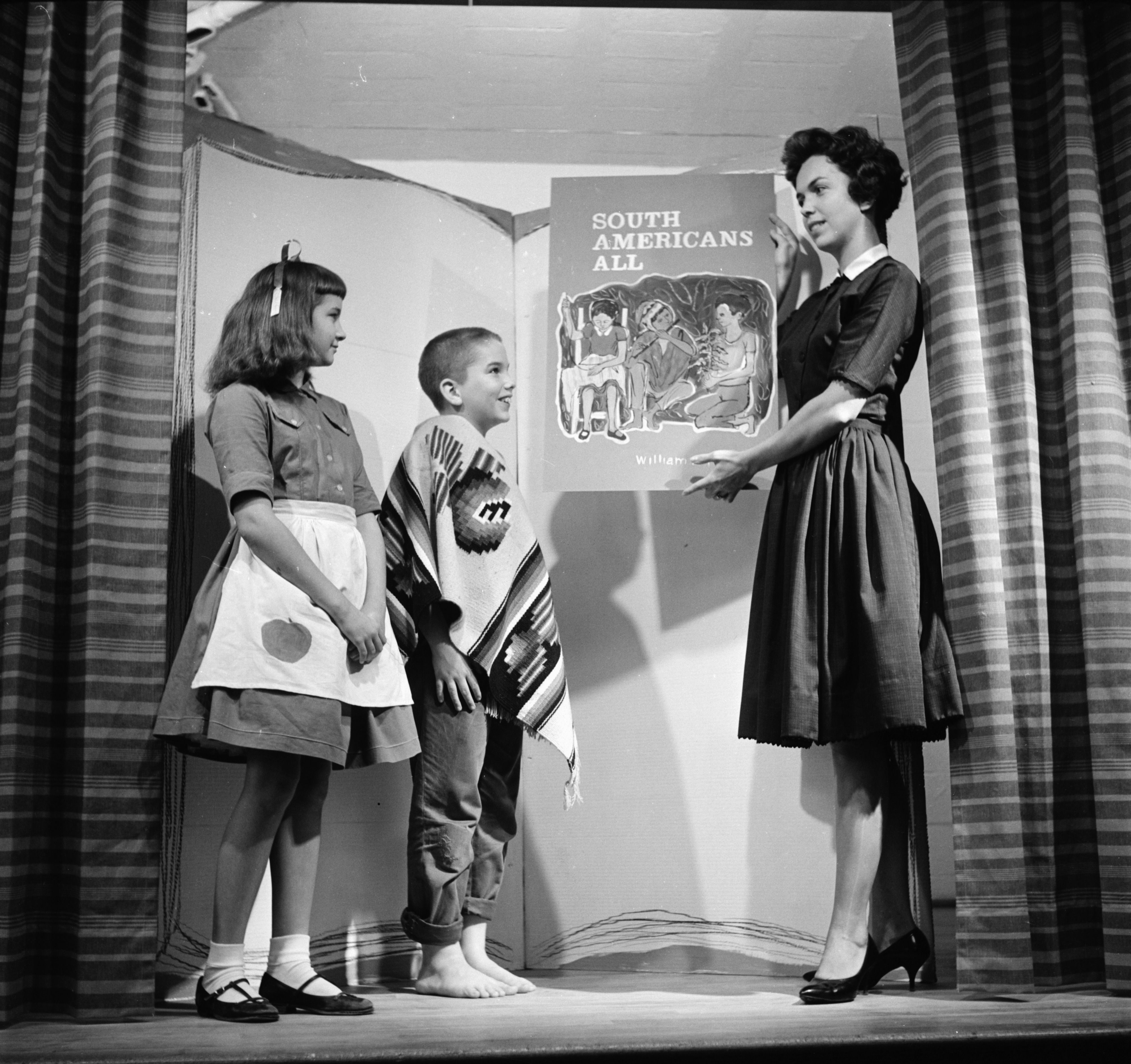 Skit On Children's Missionary Education Books Put On By First Presbyterian Church, October 1961 image