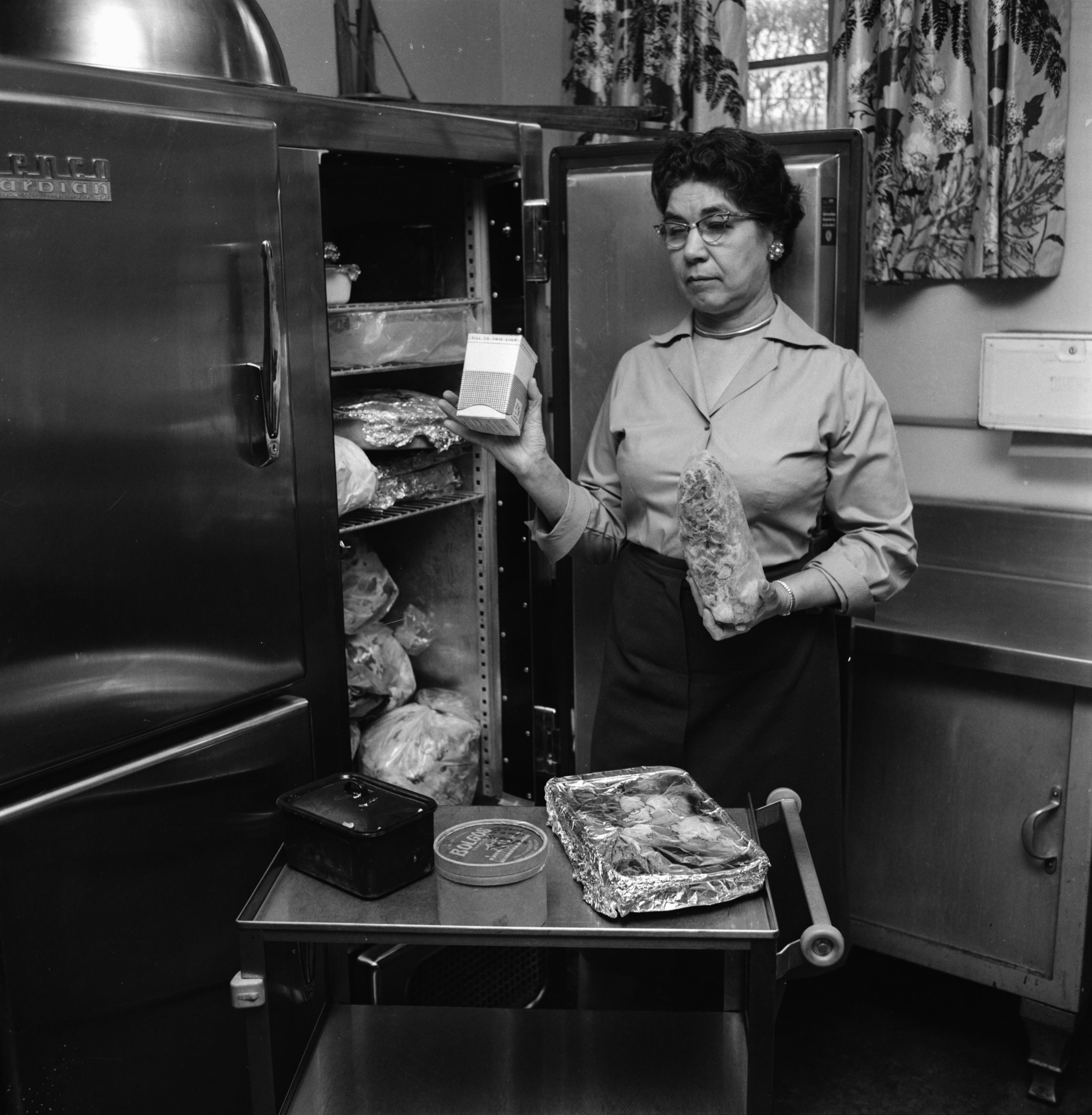 Mrs. Harry B. White, Director of Food Service at the First Methodist Church, March 1962 image