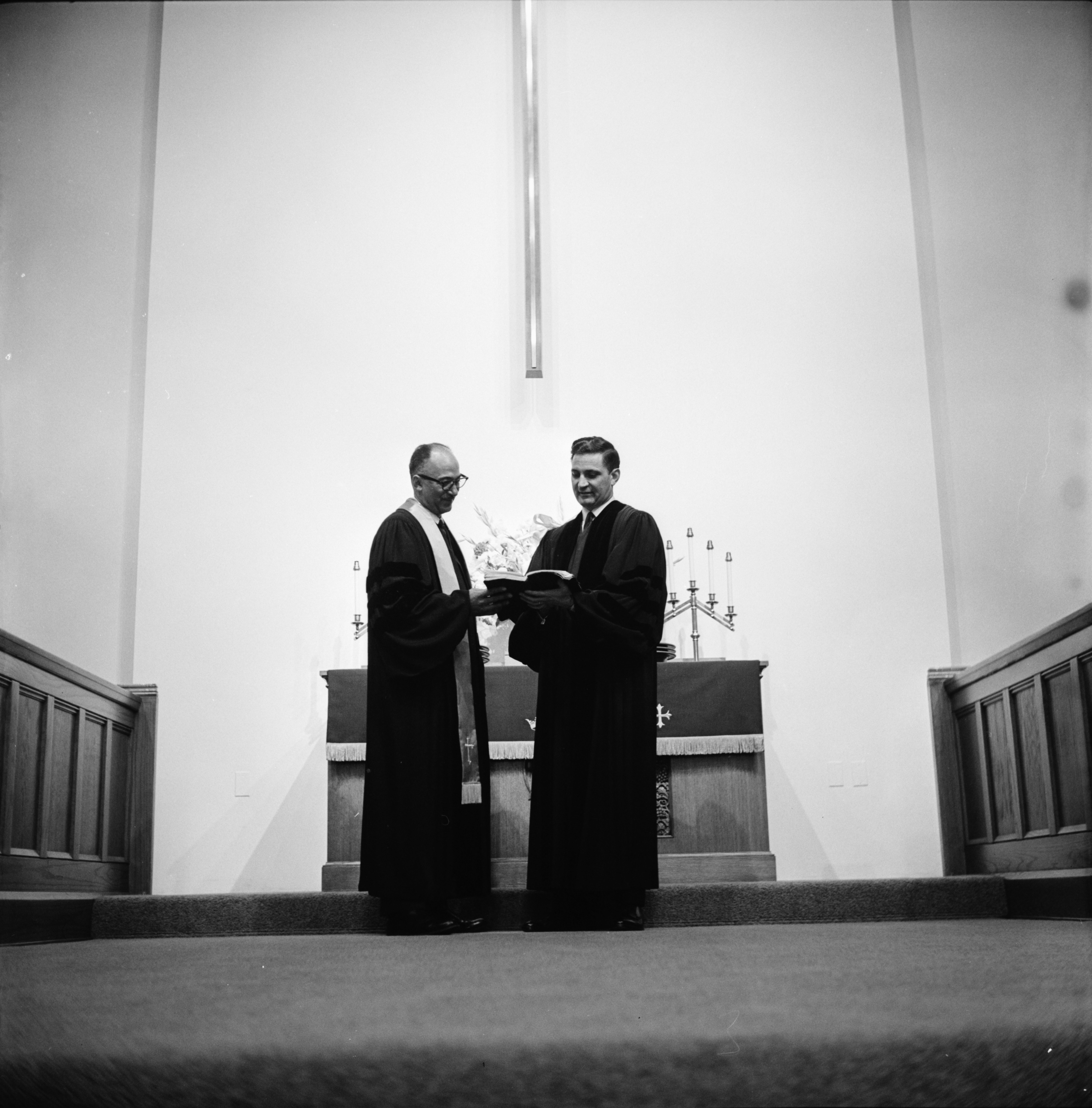 Rev. Lyman S. Parks & Rev. H. Vaughn Whited Exchange Pulpits For Brotherhood Sunday, February 1963 image