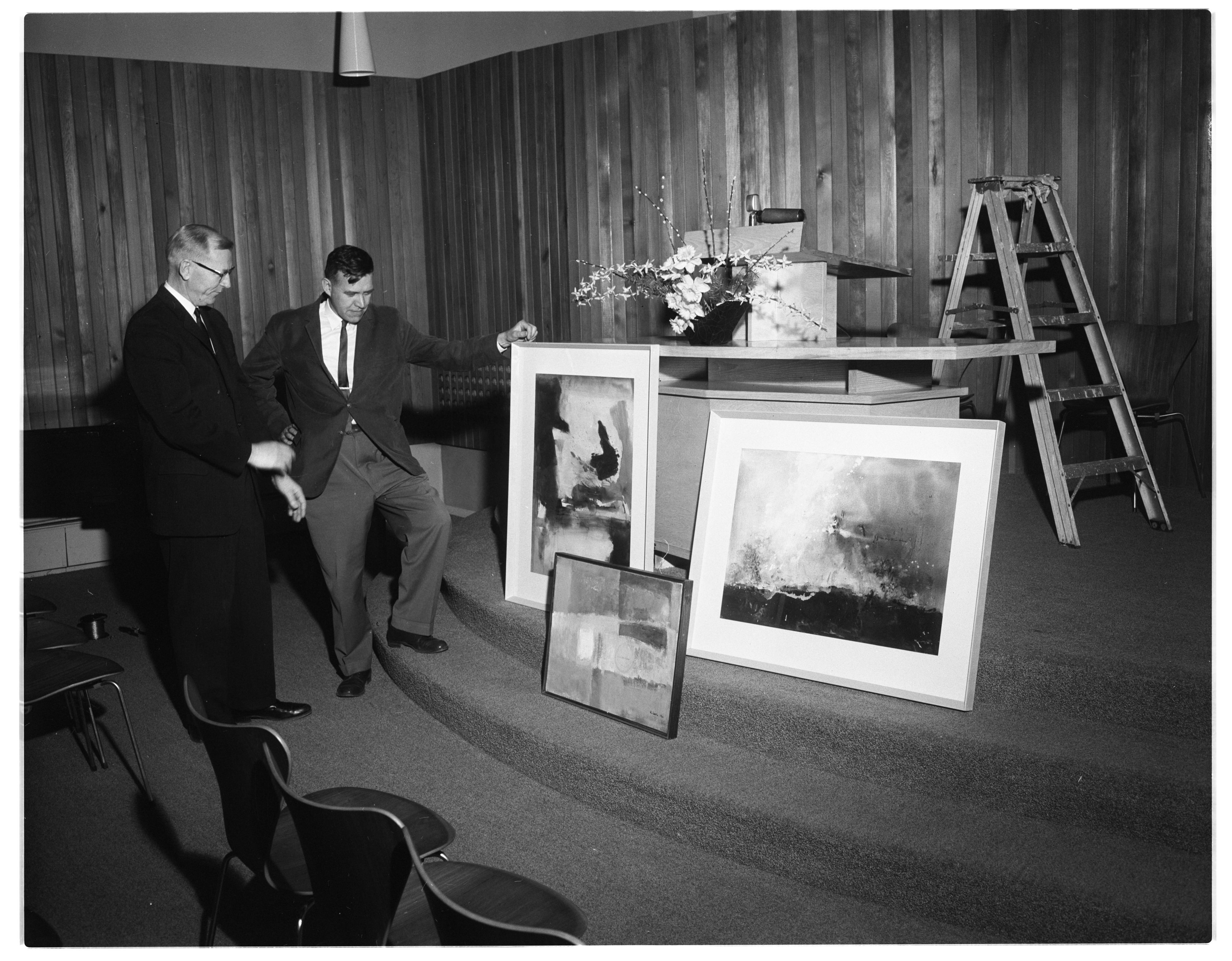 Paintings by University Professor William A. Lewis at First Unitarian Church, April 1963 image