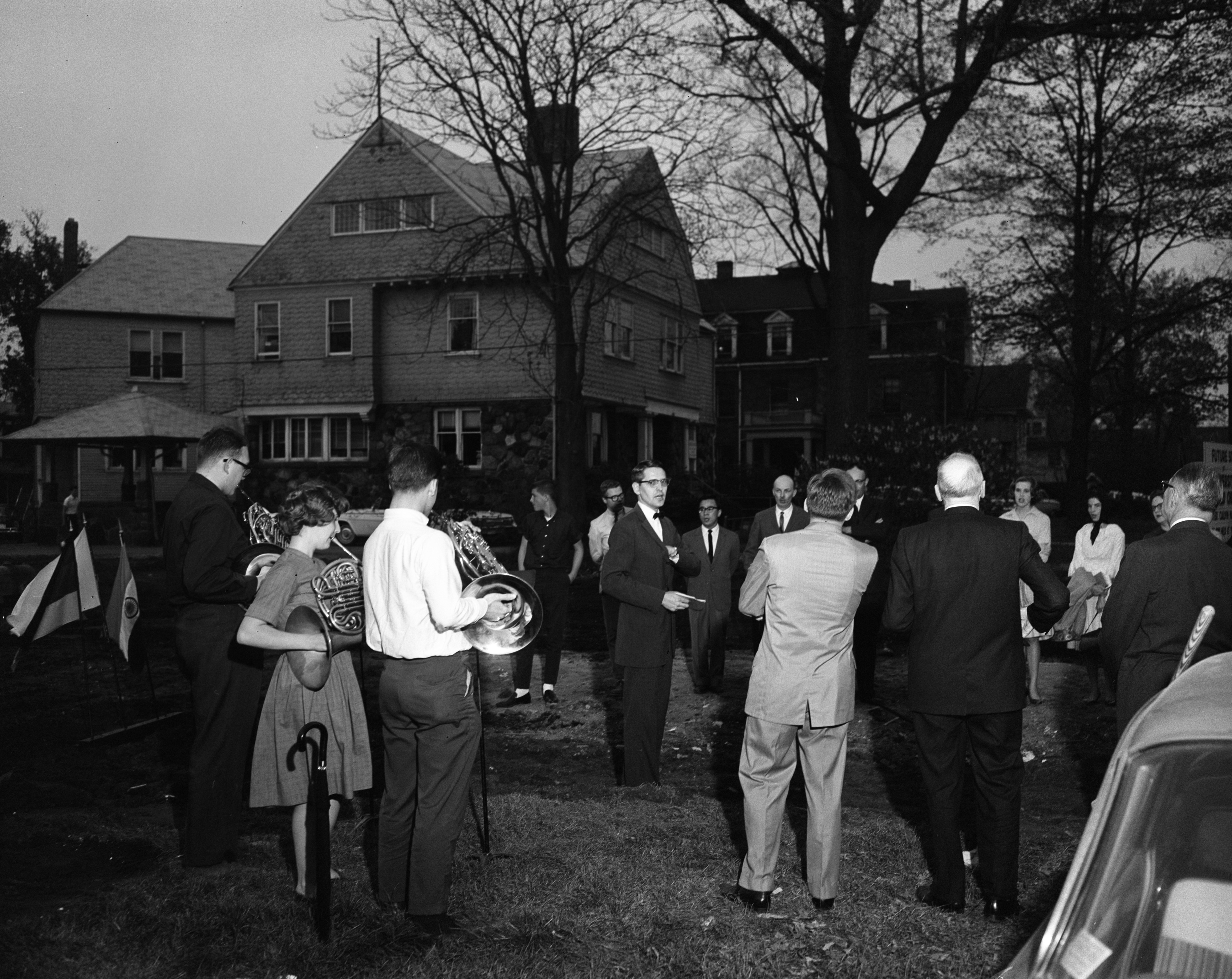Ground-Breaking Ceremony for University Reformed Church on E. Huron St, May 1963 image
