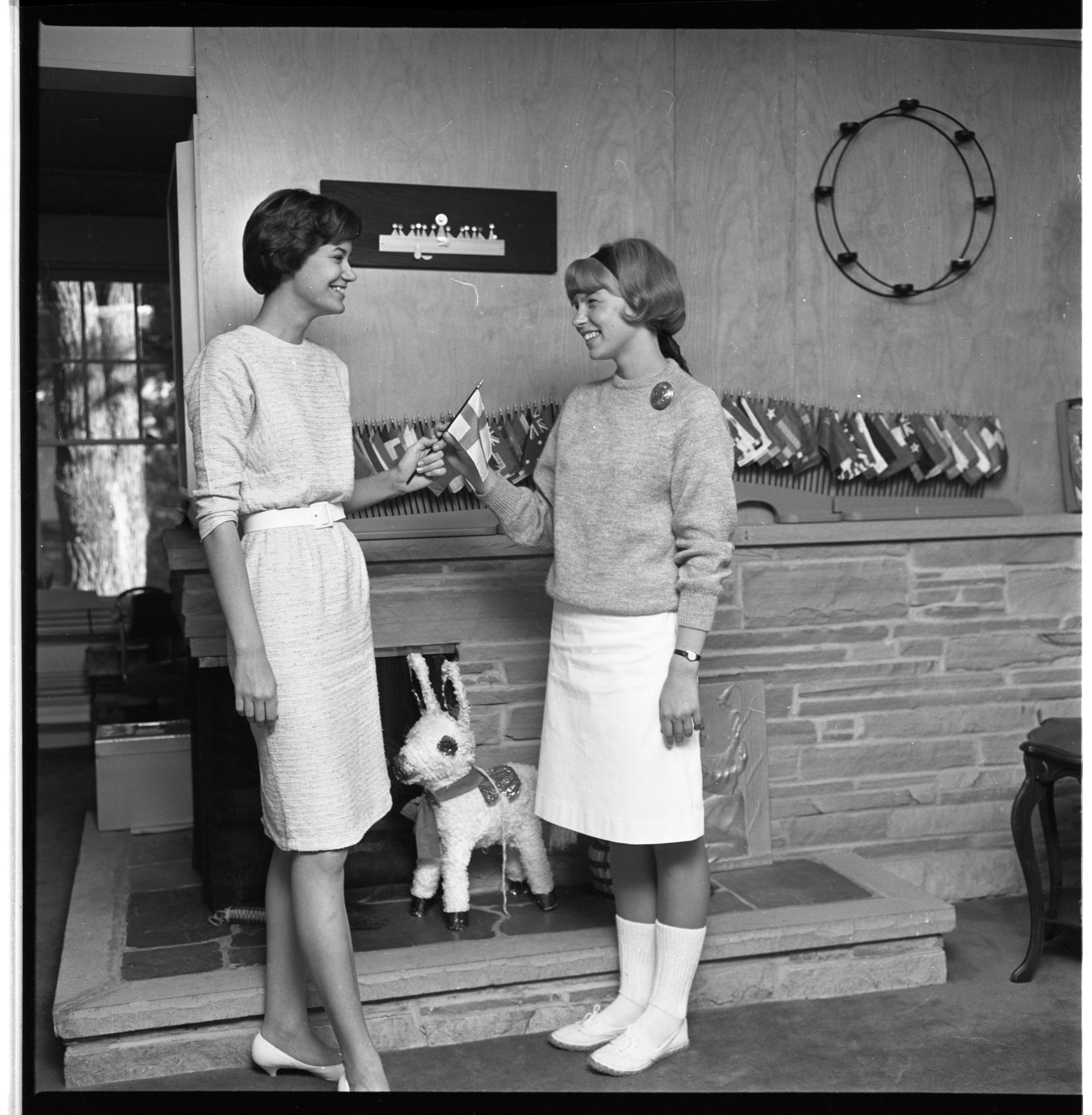 Becky Piper Welcomes Pirkko Paaermaa of Finland, August 1963 image