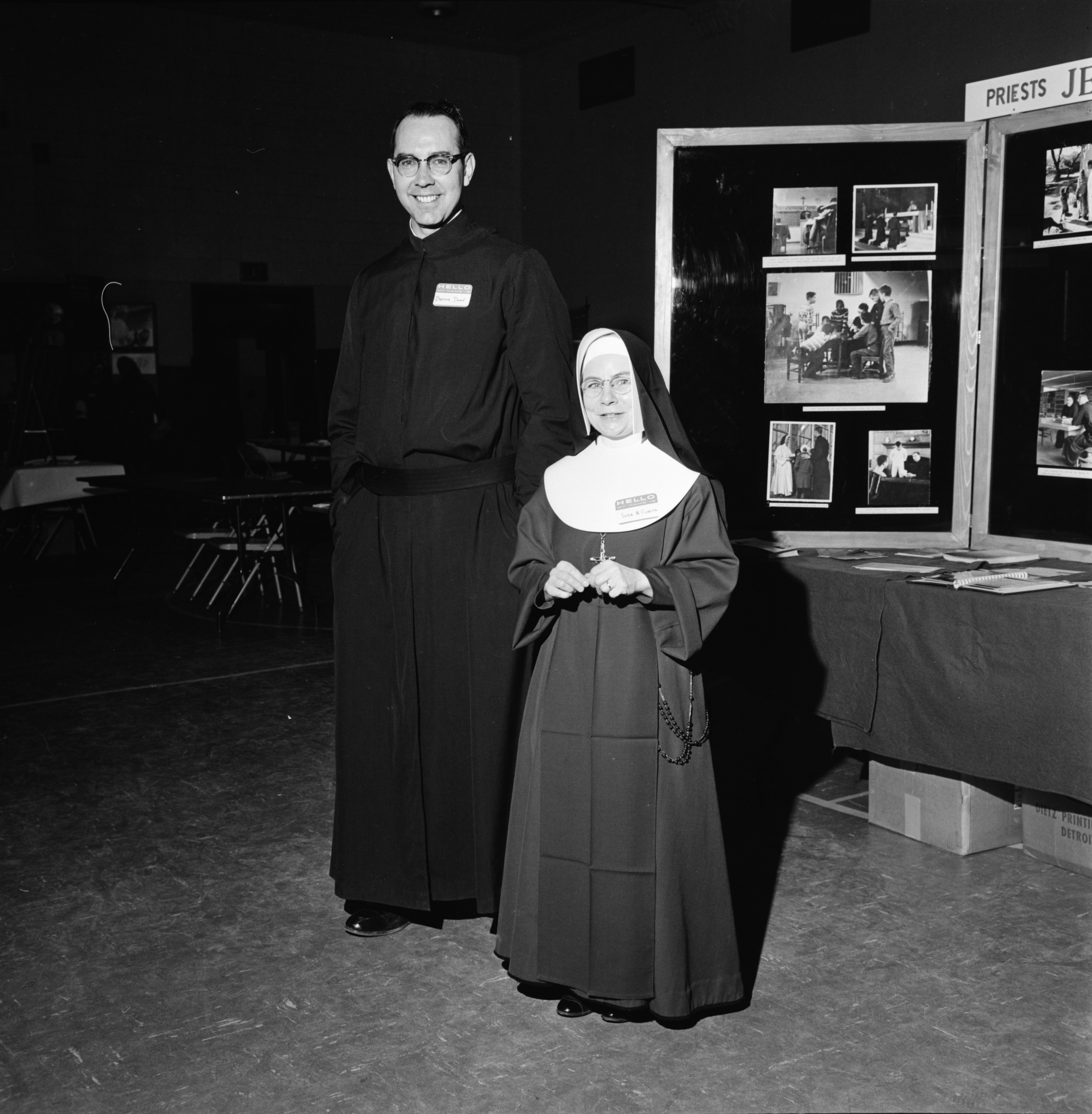 Religious Vocation Exhibit at St. Thomas, March 1965 image
