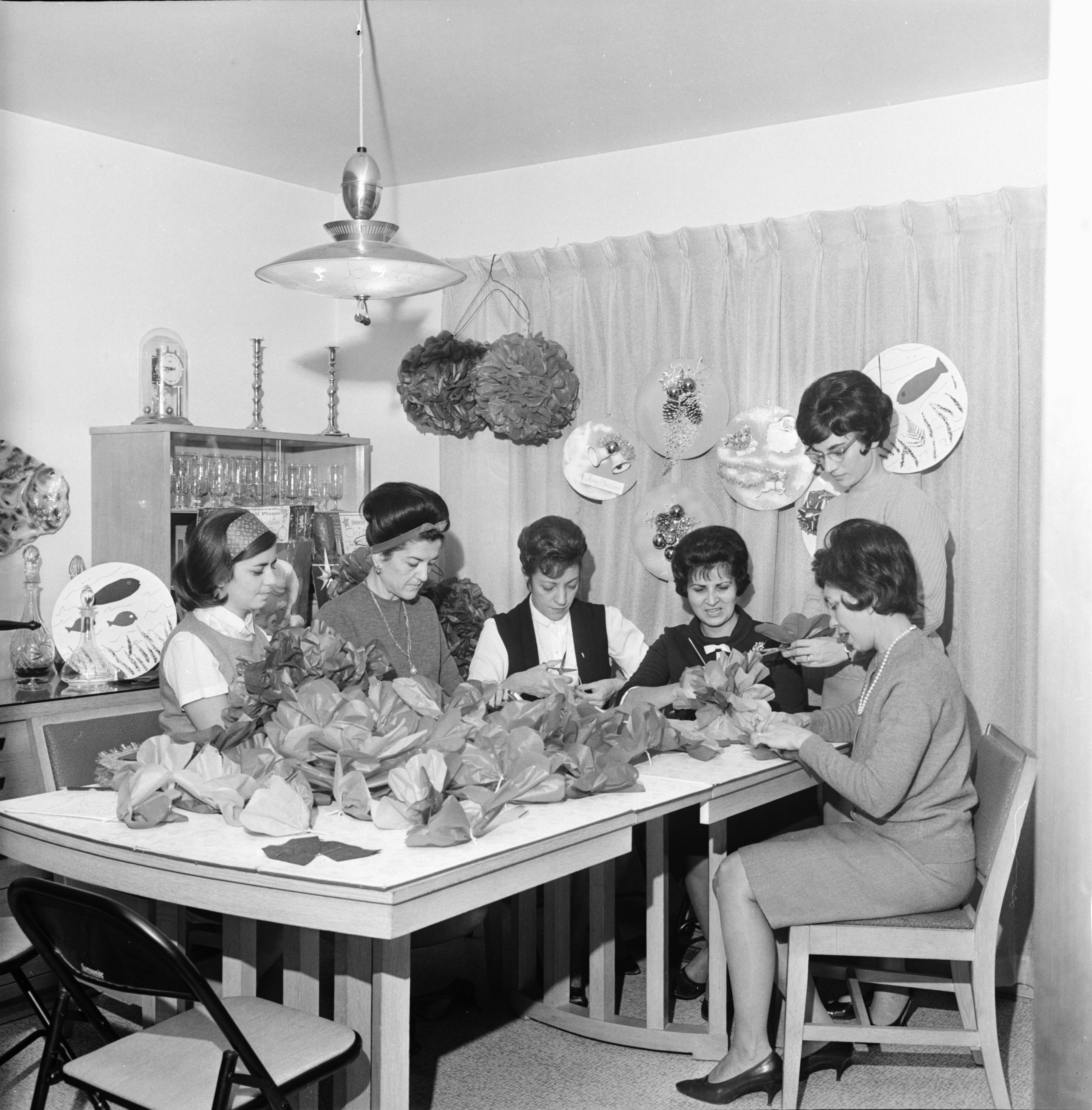 Women of St. Nicholas Greek Orthodox Church Plan Children's Christmas Party, December 1966 image