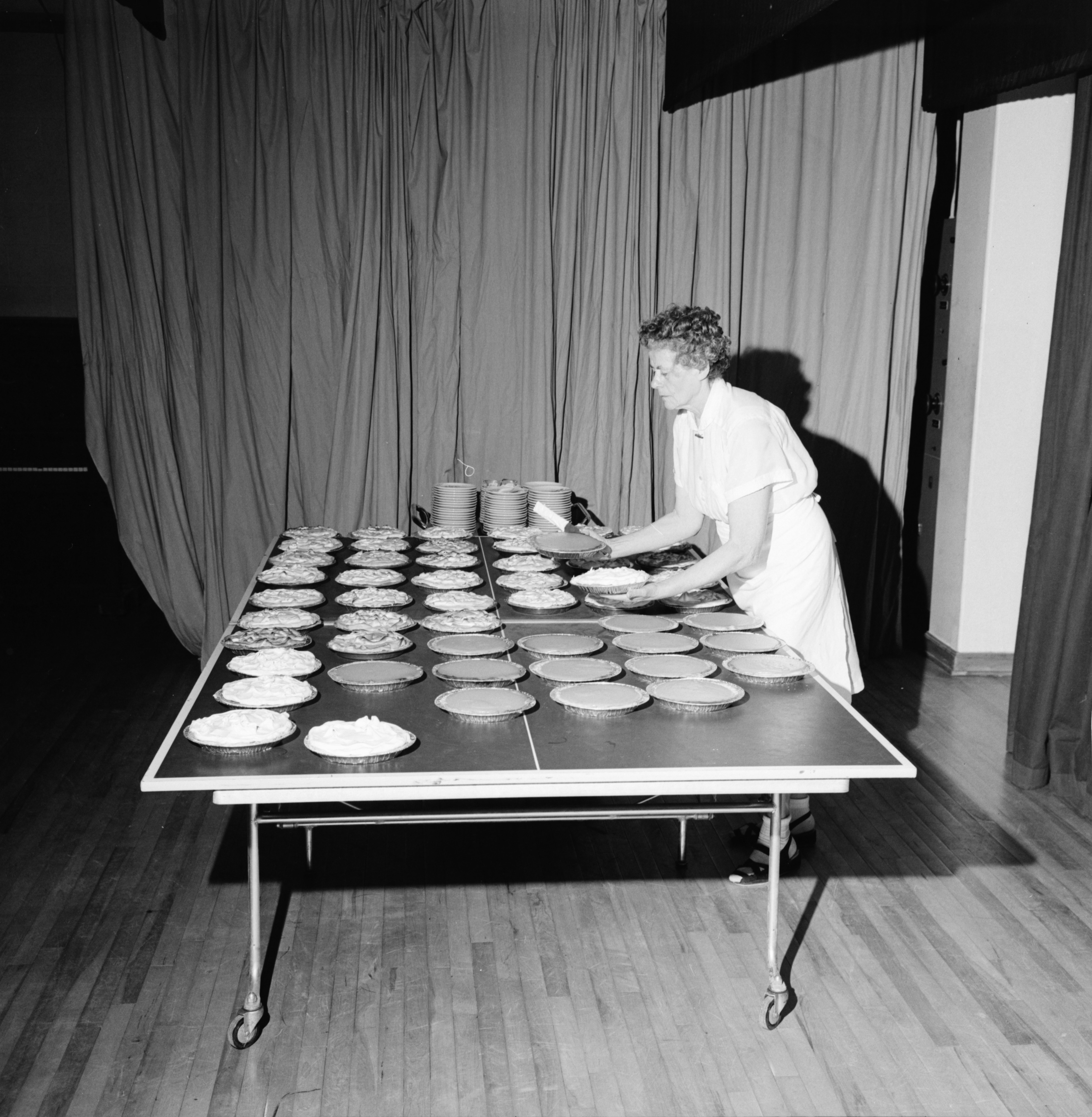 Maria Koehler Bakes 60 Pies for the American Lutheran Church Women's Convention, Zion Lutheran Church, April 1967 image