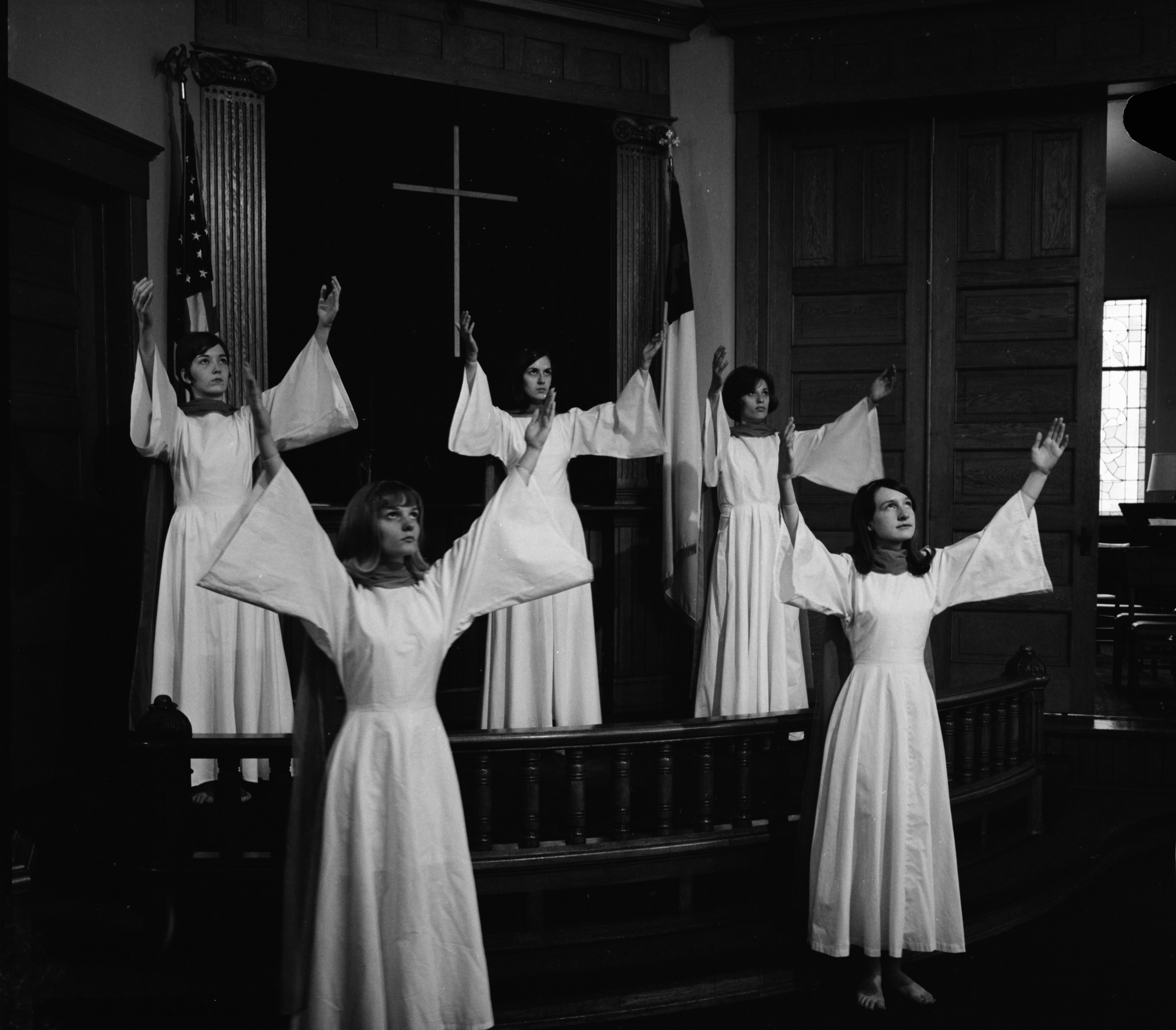 Saline Methodist Church Symbolic Motion Choir, May 1967 image