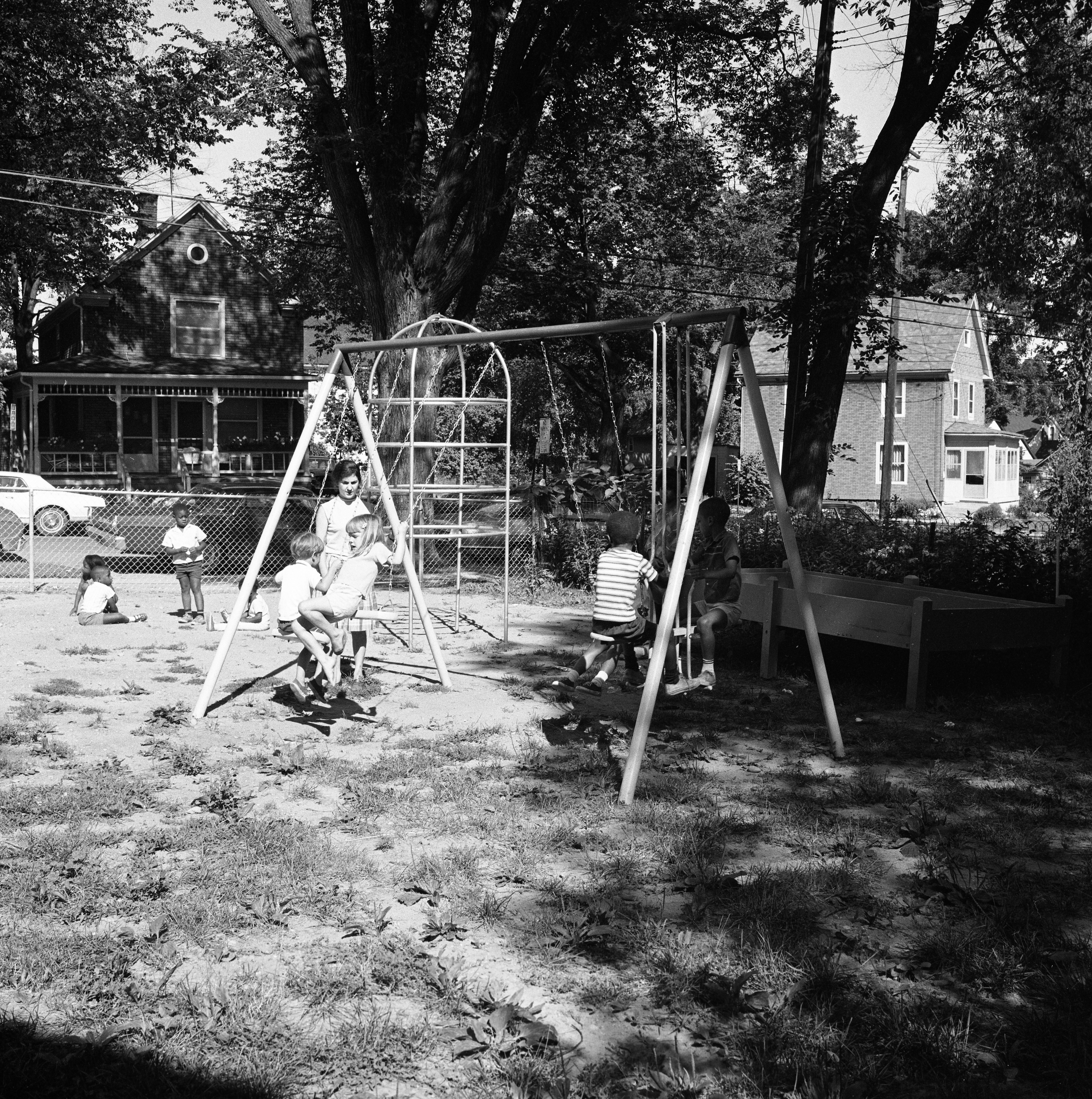Kiwanis Club of Ann Arbor Donates Playground Equipment to Second Baptist Church Day Care Center, August 1967 image