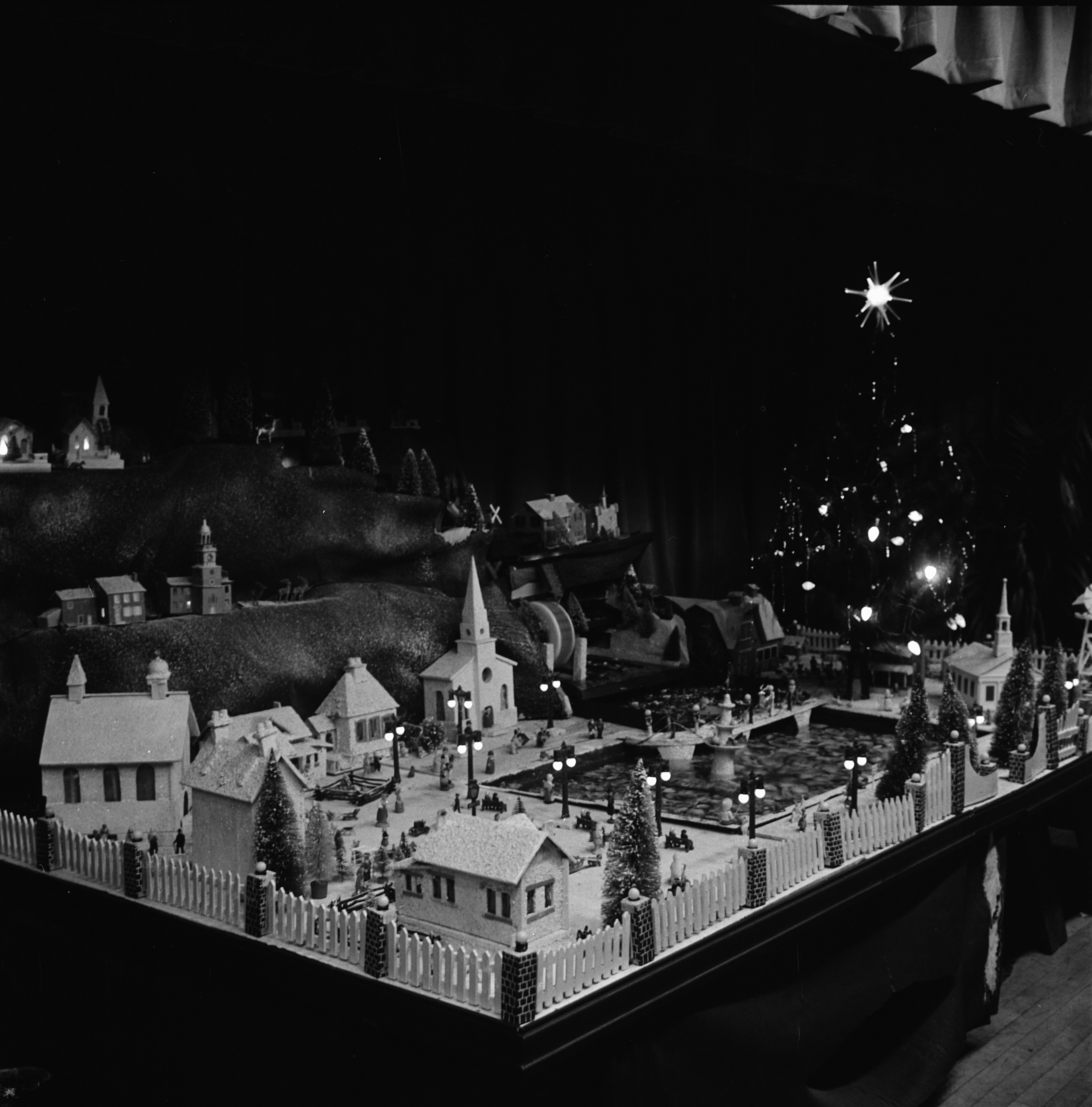 Christmas Village at First Methodist Church, December 1969 image