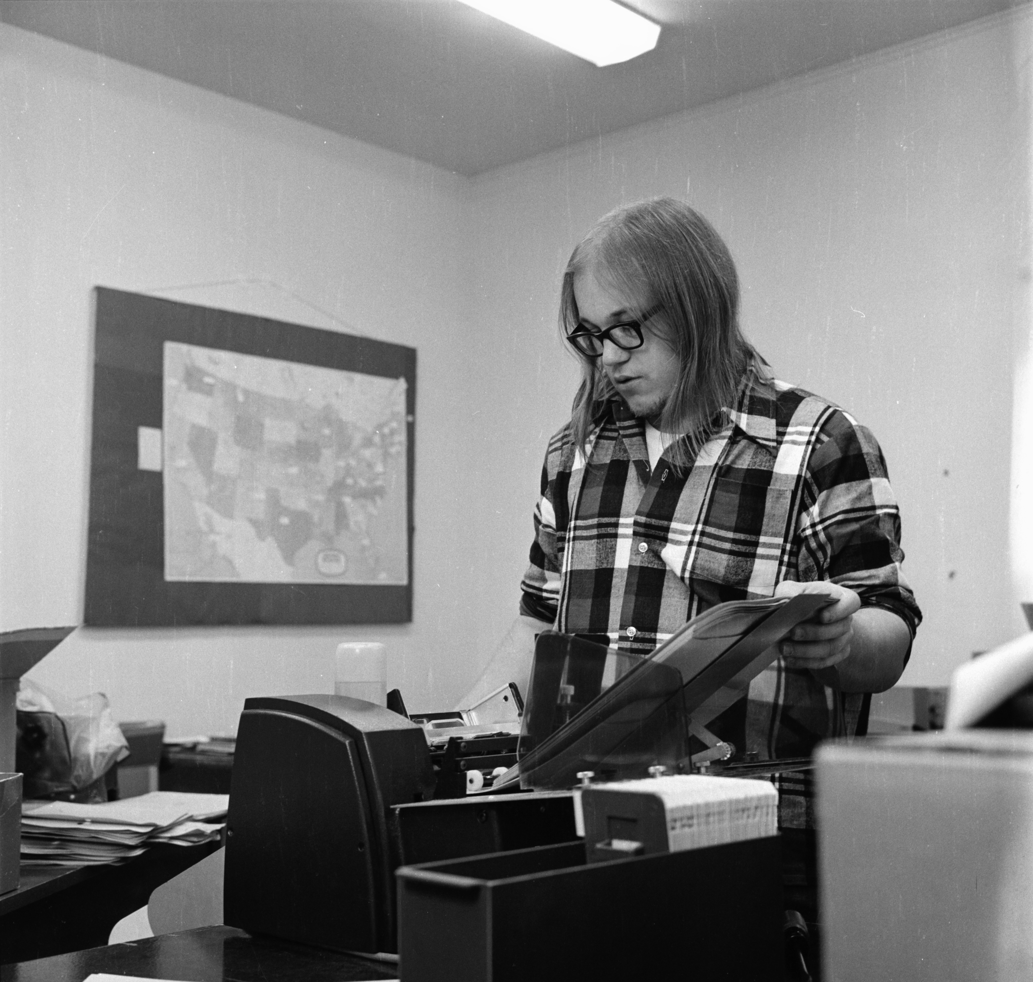 "Editor Ralph Martin in Word of God's Church Magazine ""The New Covenant"" Publication Office, October 1972 image"