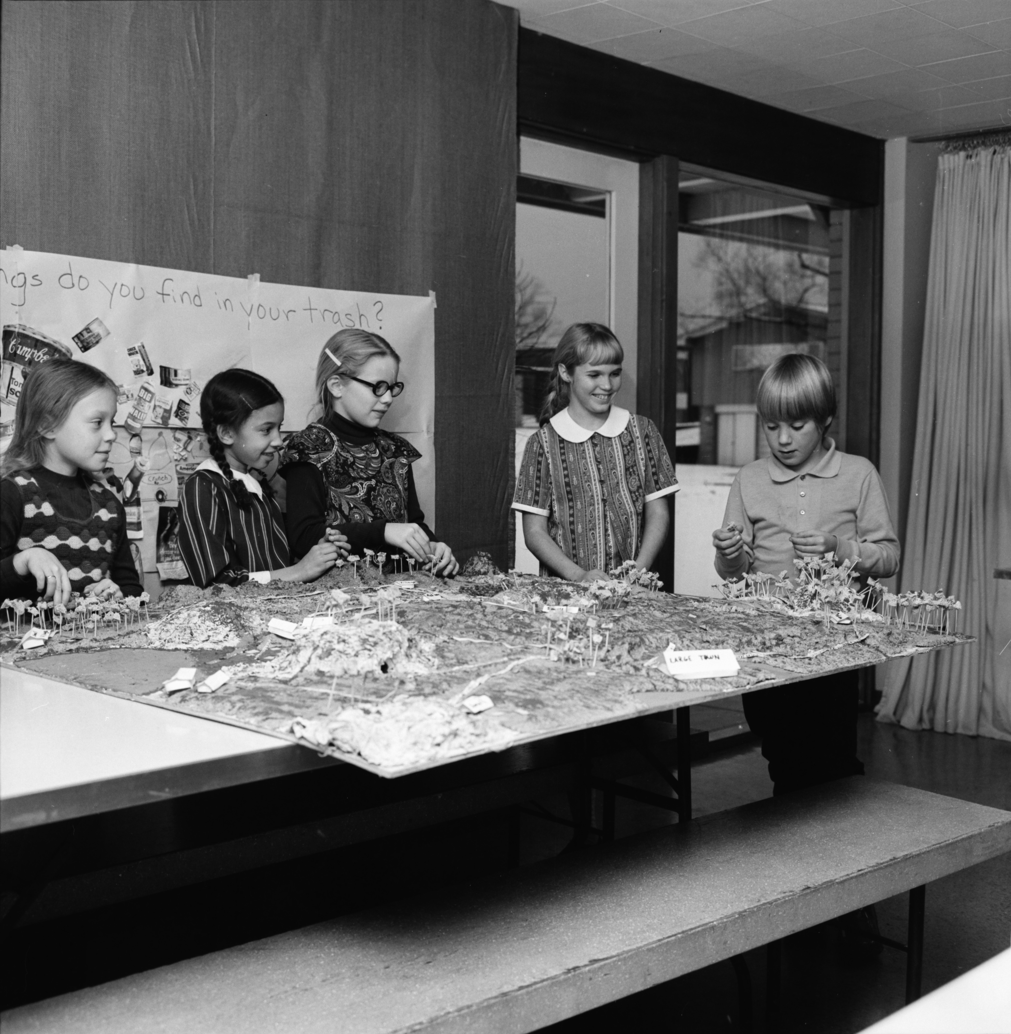 Church of the Good Shepherd Children Make Landscape Model, December 1972 image