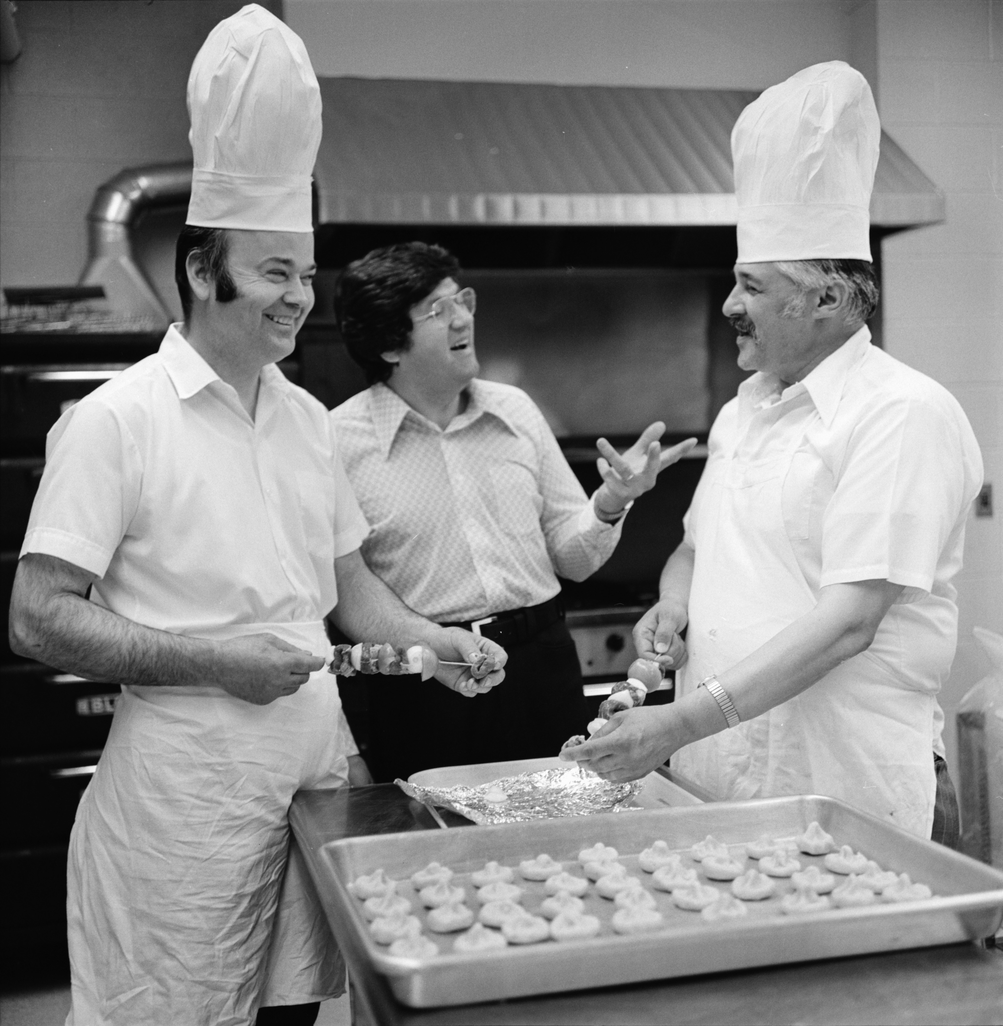 Preparing Food for St. Nicholas Greek Orthodox Greek Festival, May 1973 image