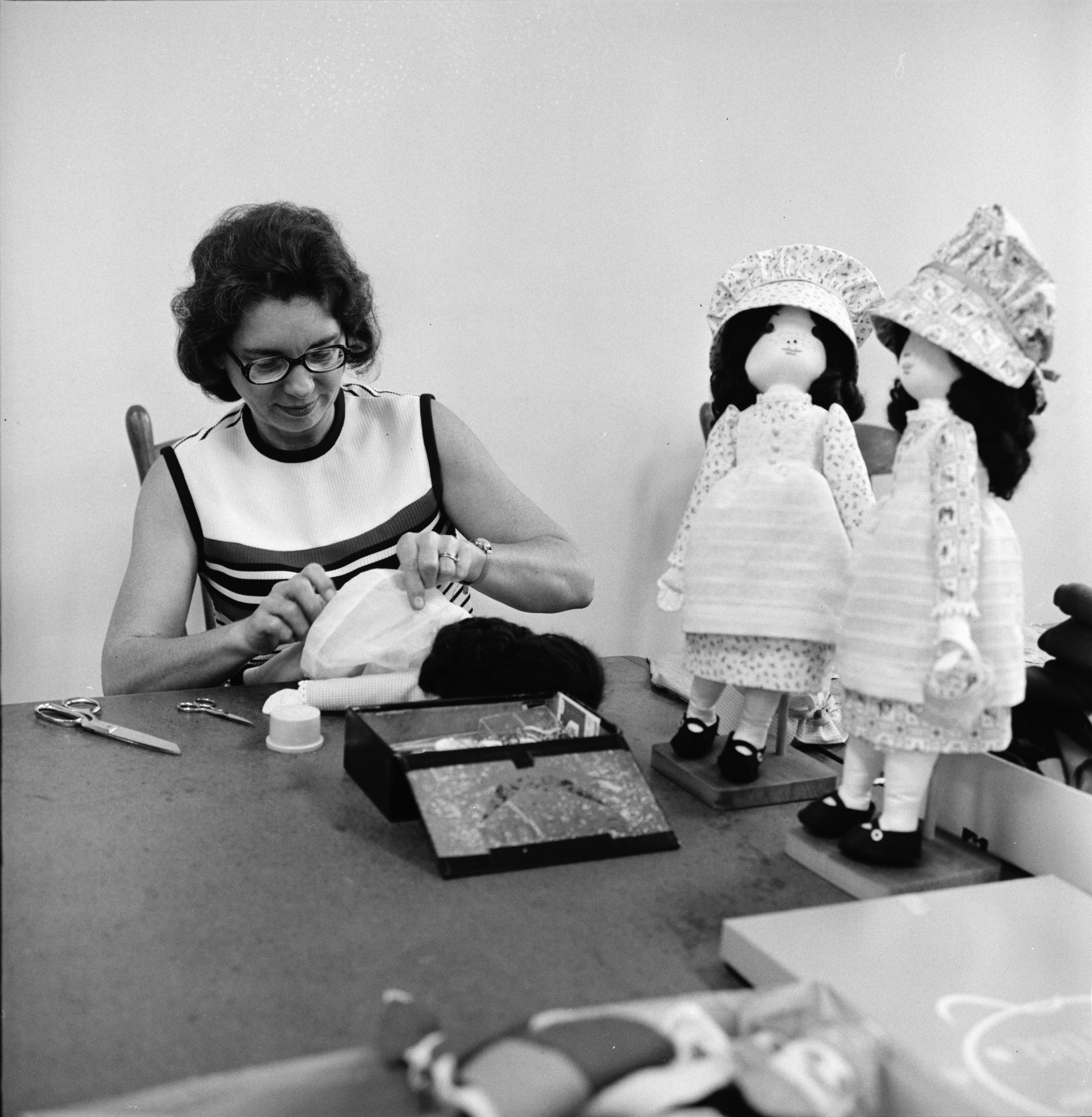 Bethlehem United Church of Christ Bazaar Preparations, October 1973 image