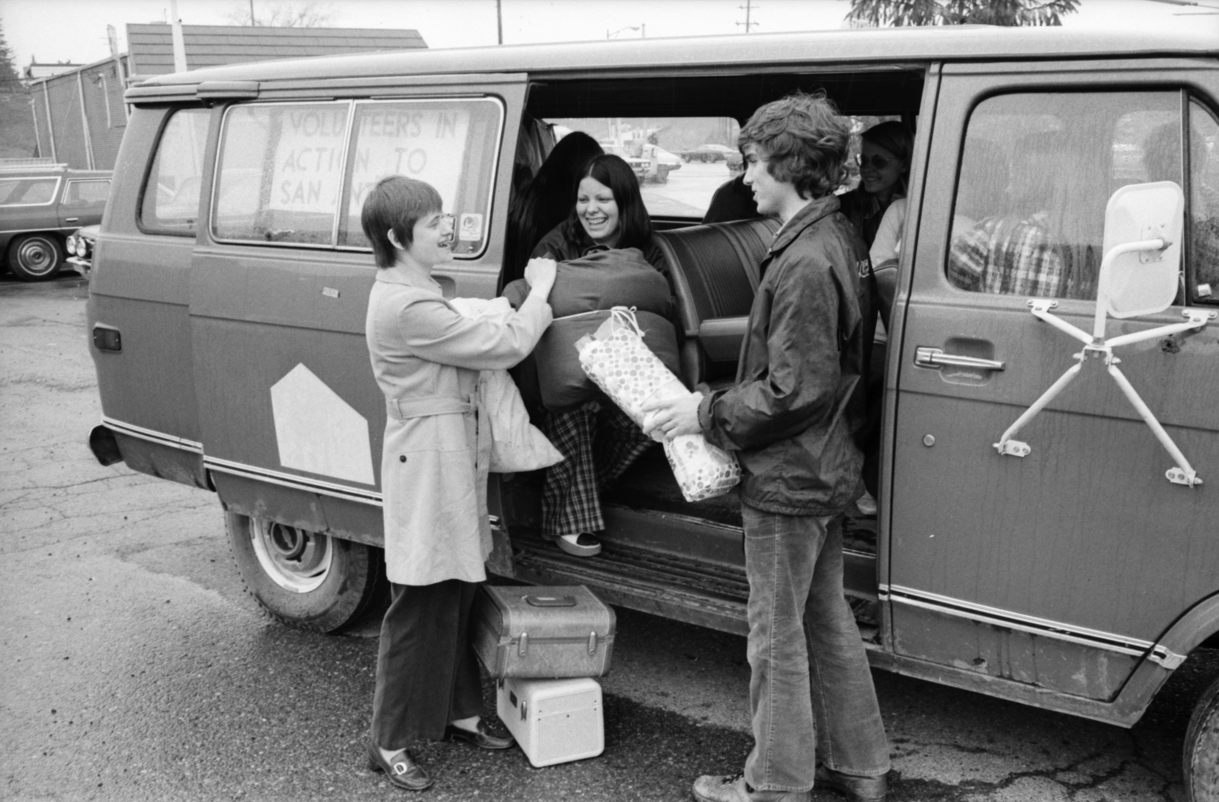 Free Methodist Church Group Leaving For Volunteers in Action Program In Texas, April 1974 image