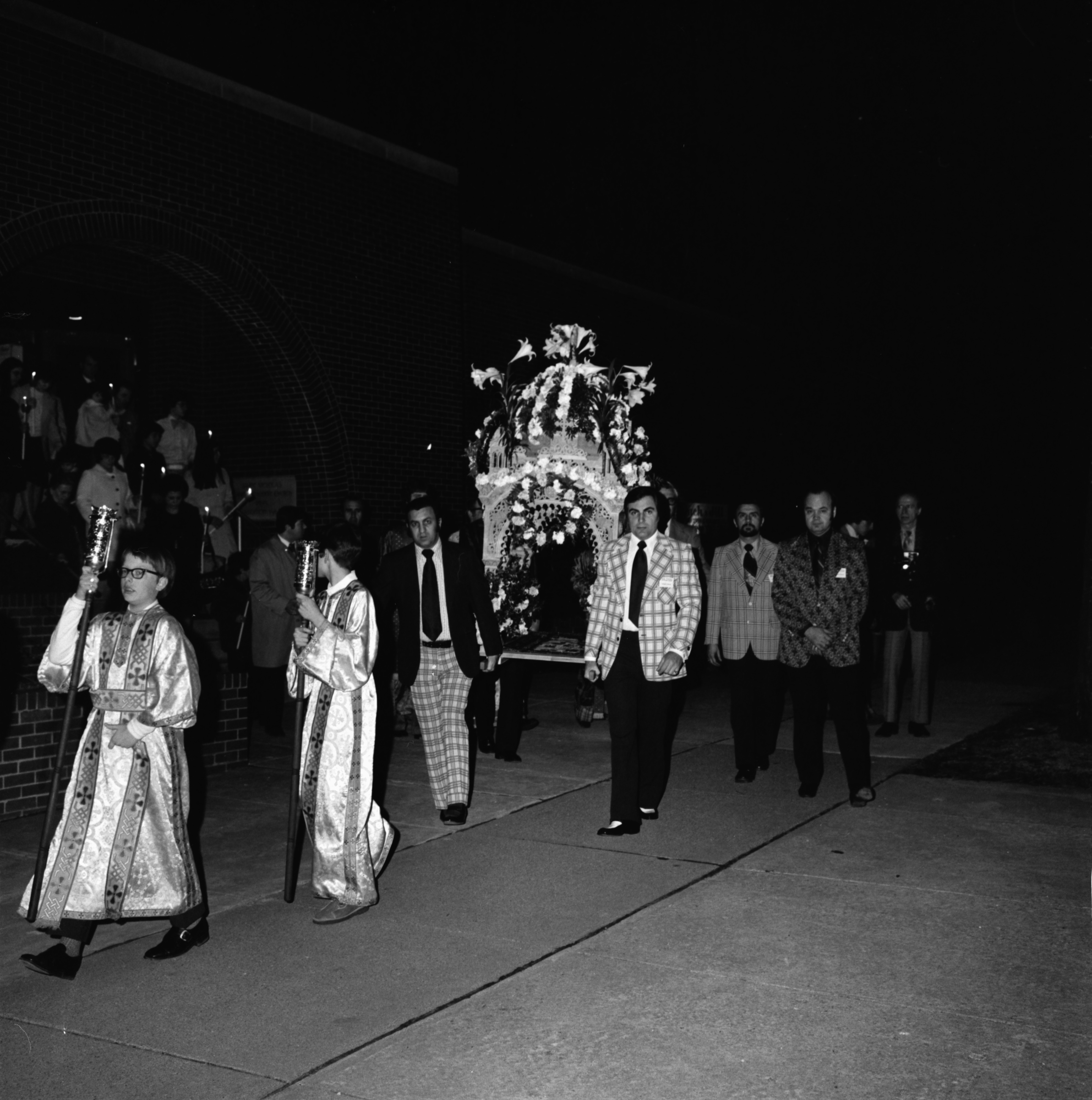 St. Nicholas Greek Orthodox Church Procession Carrying Replica of the Tomb of Christ on Good Friday, April 1974 image