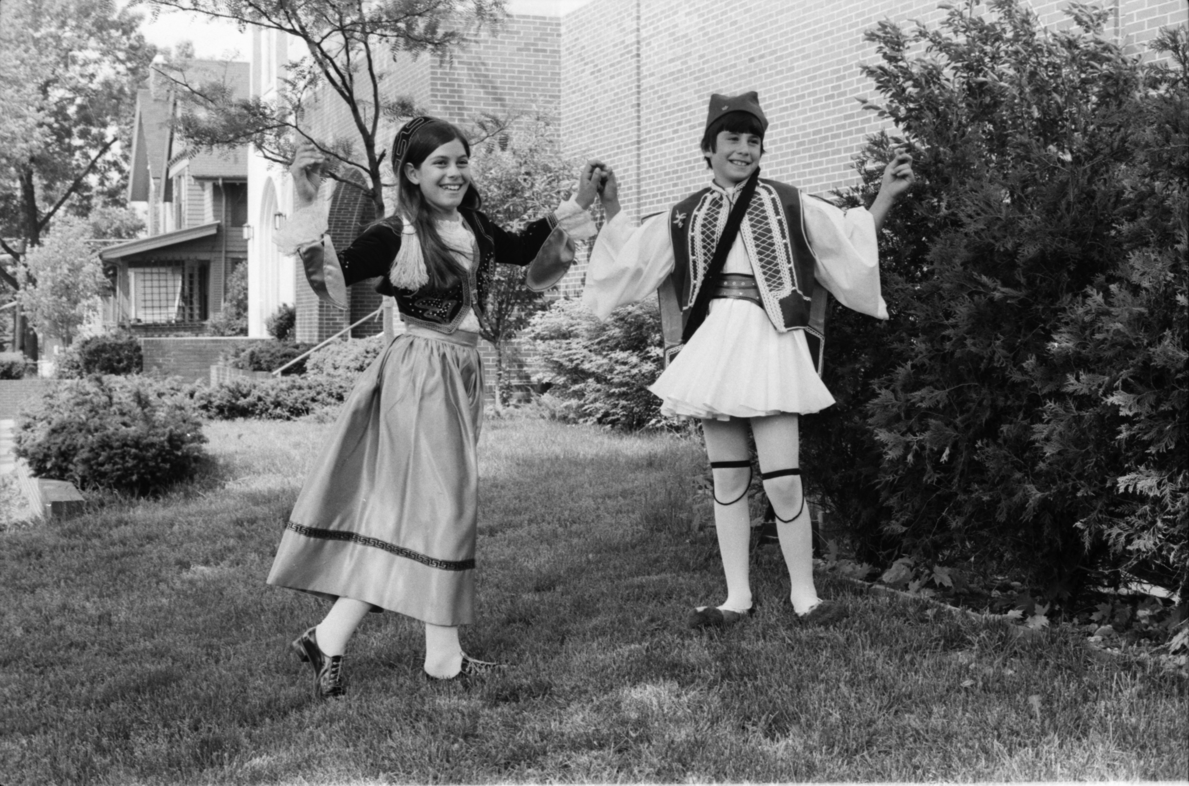 Greek Festival Dancers Stephanie Savos and Theo Michos, June 1974 image