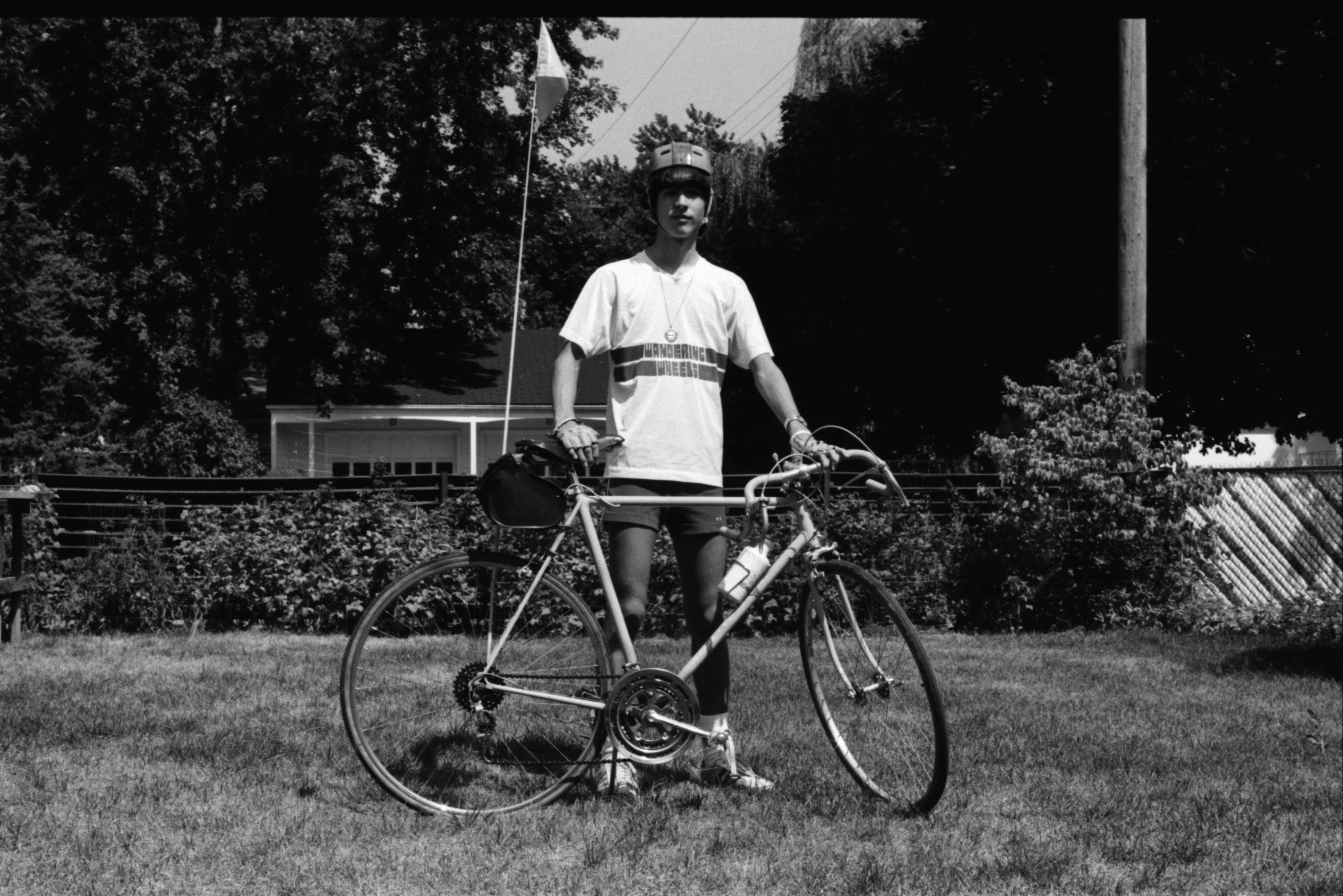 David Carter of Wandering Wheels Bicycle Club, August 1974 image