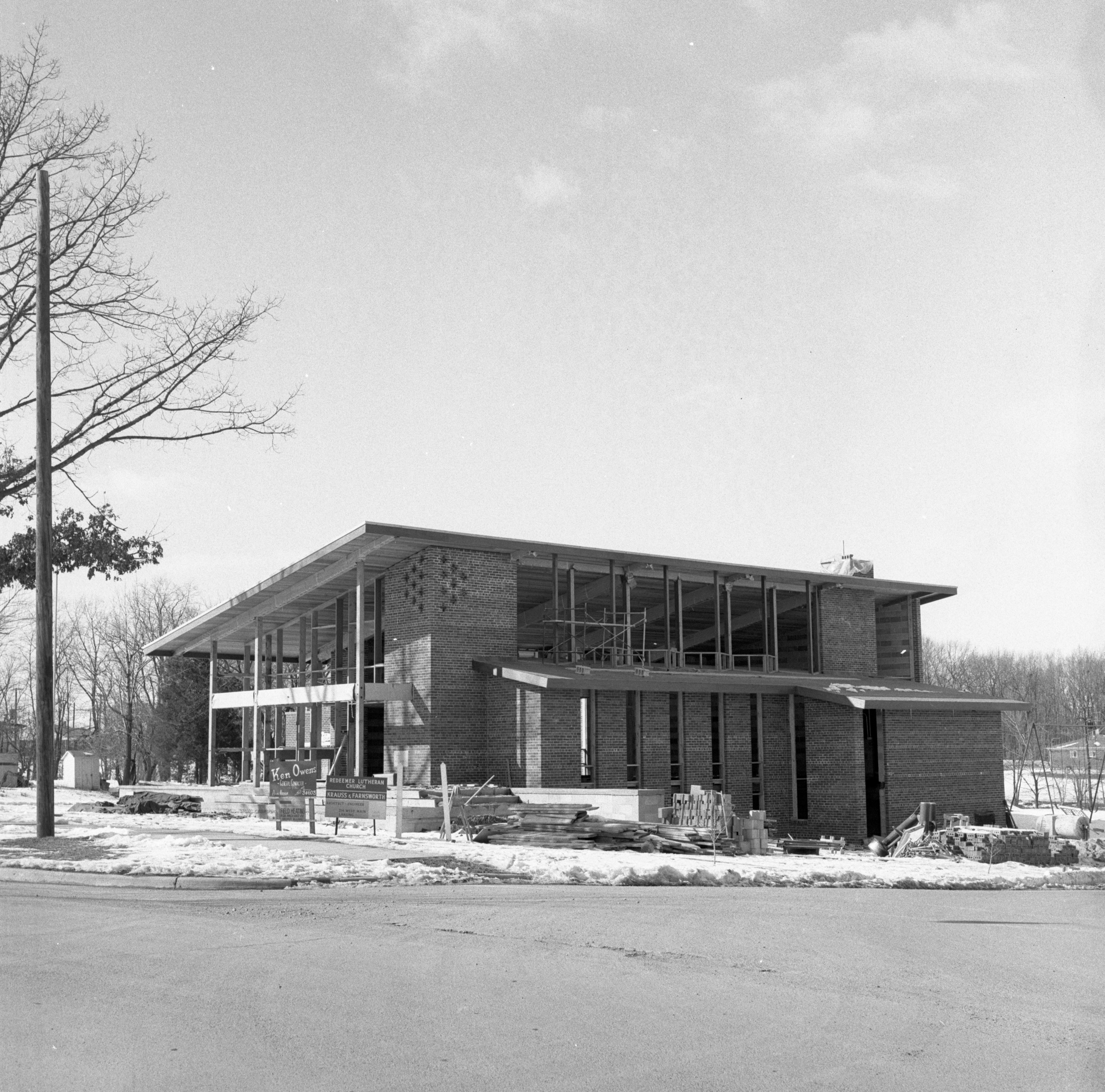 New Redeemer Lutheran Church Building Under Construction, February 1957 image