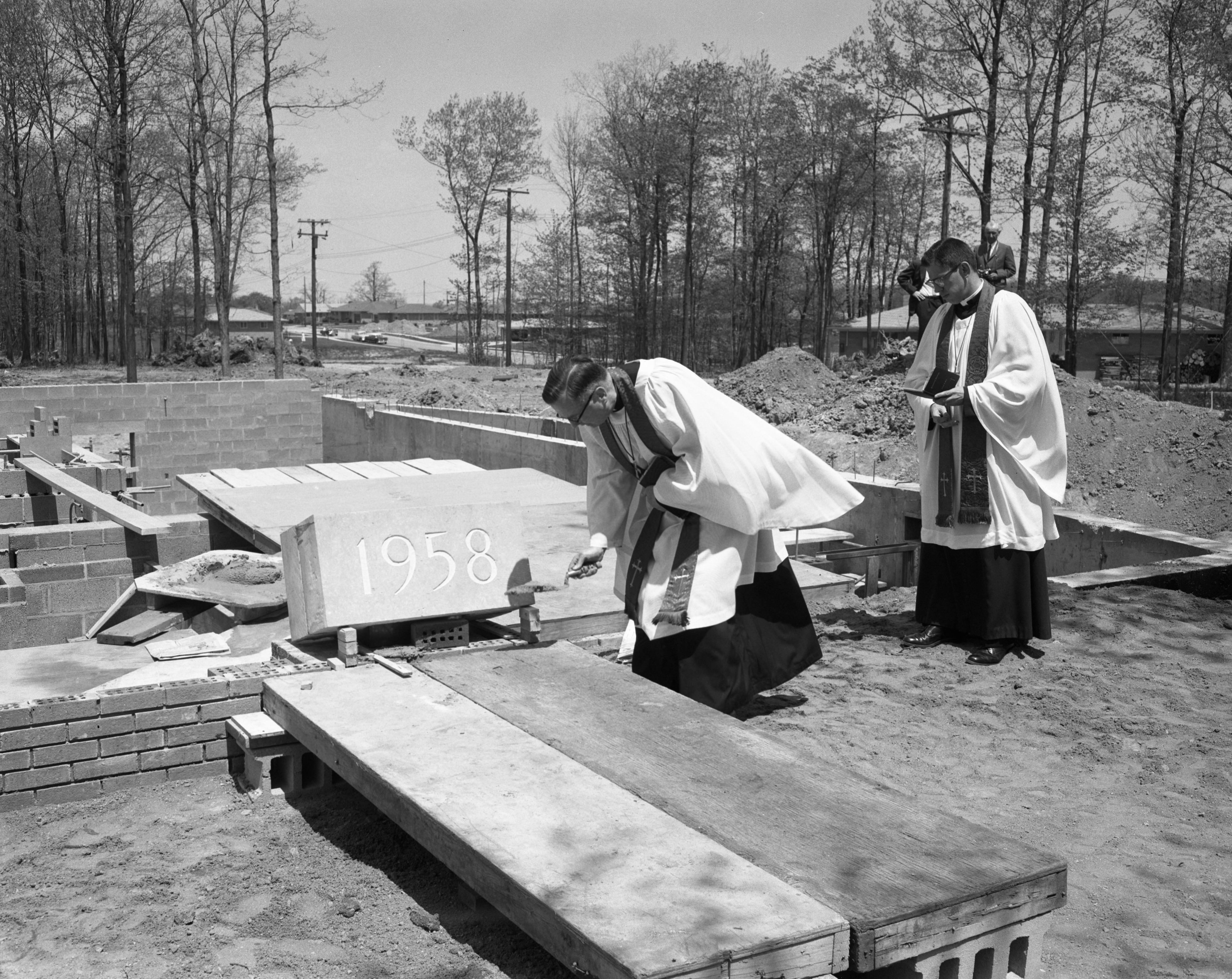 Cornerstone Laying Ceremony for Trinity Lutheran Church, May 1958 image