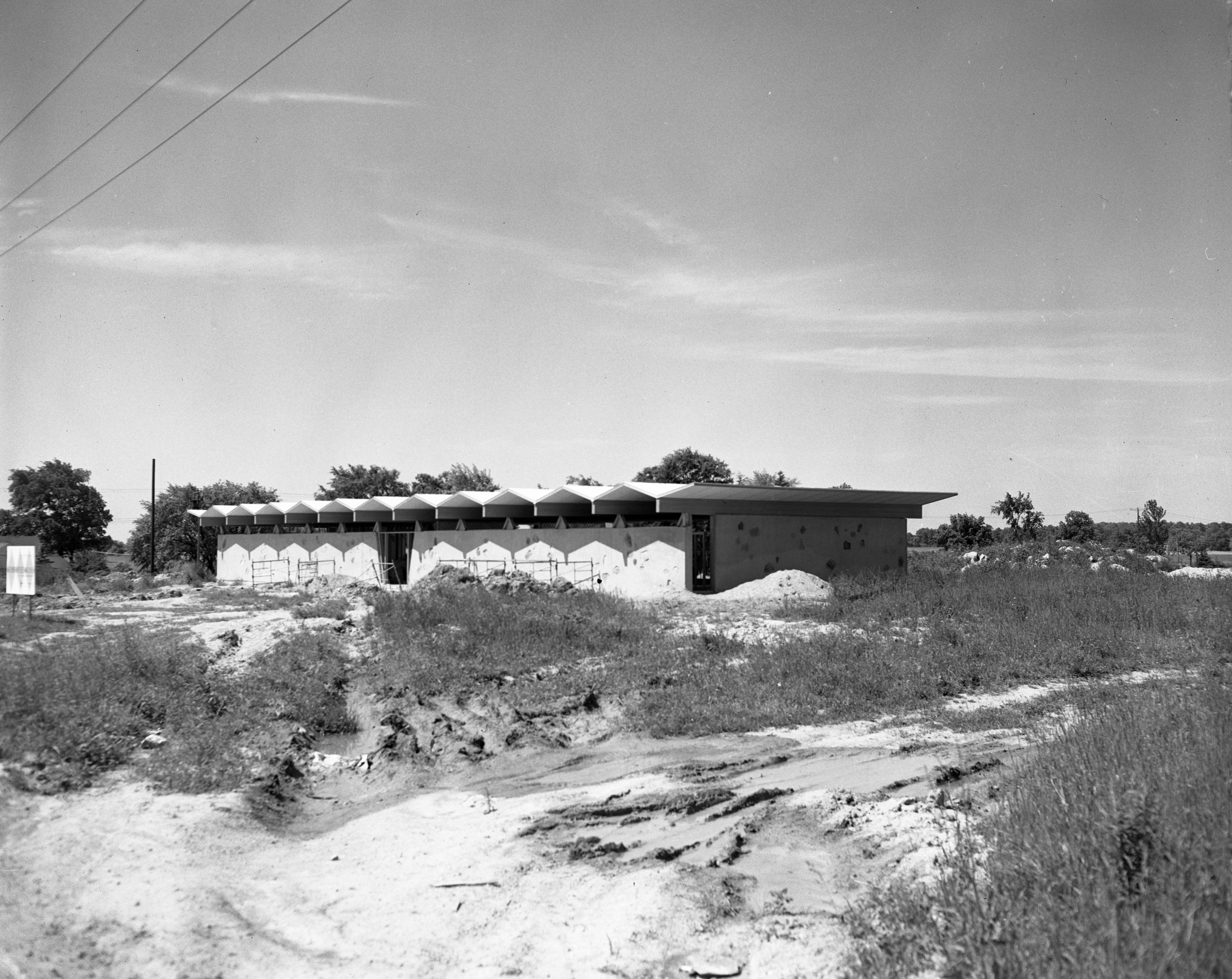 Construction of New Presbyterian Church, Greenview, June 1958 image