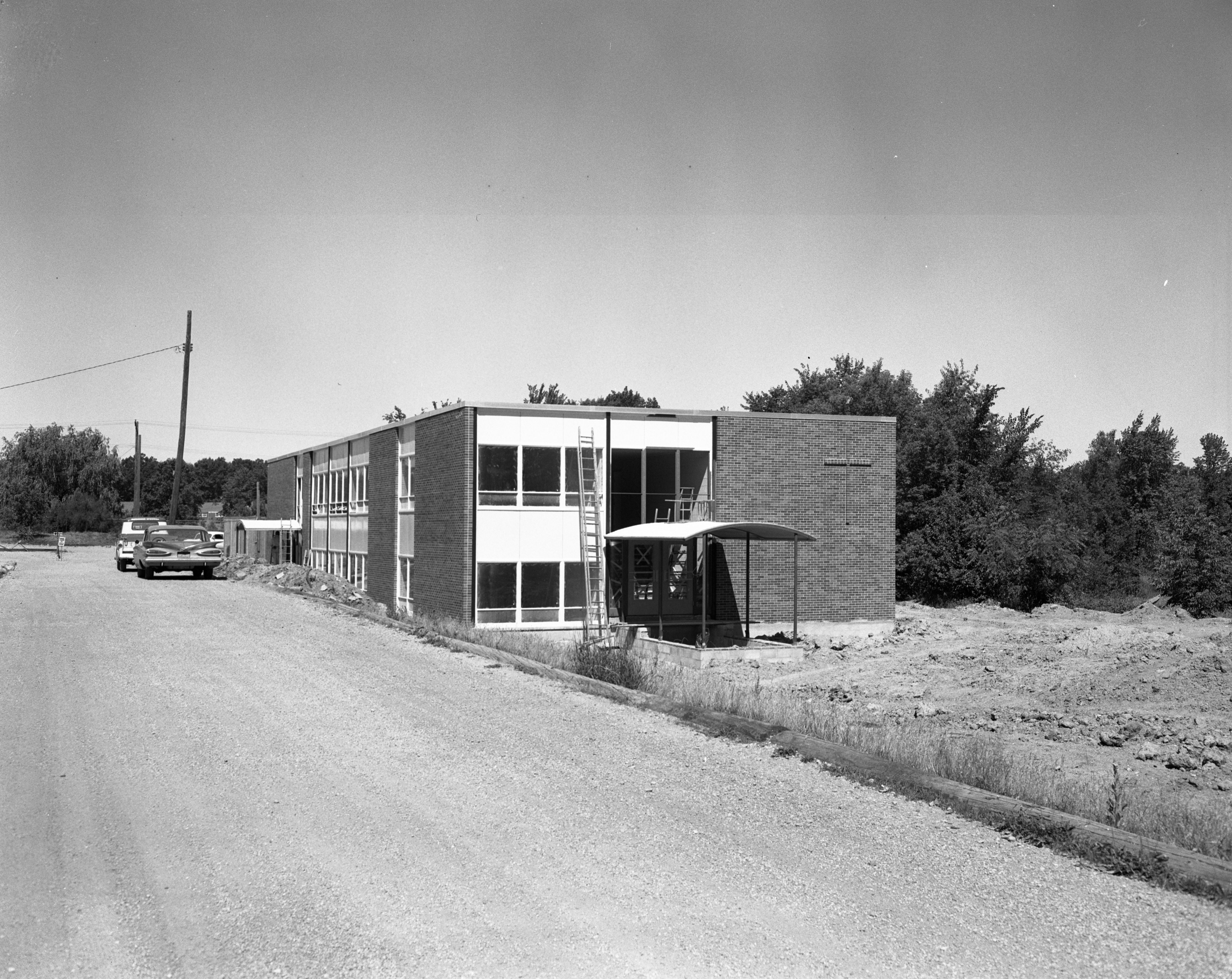 Construction of West Side Methodist Church Educational Building, July 1959 image