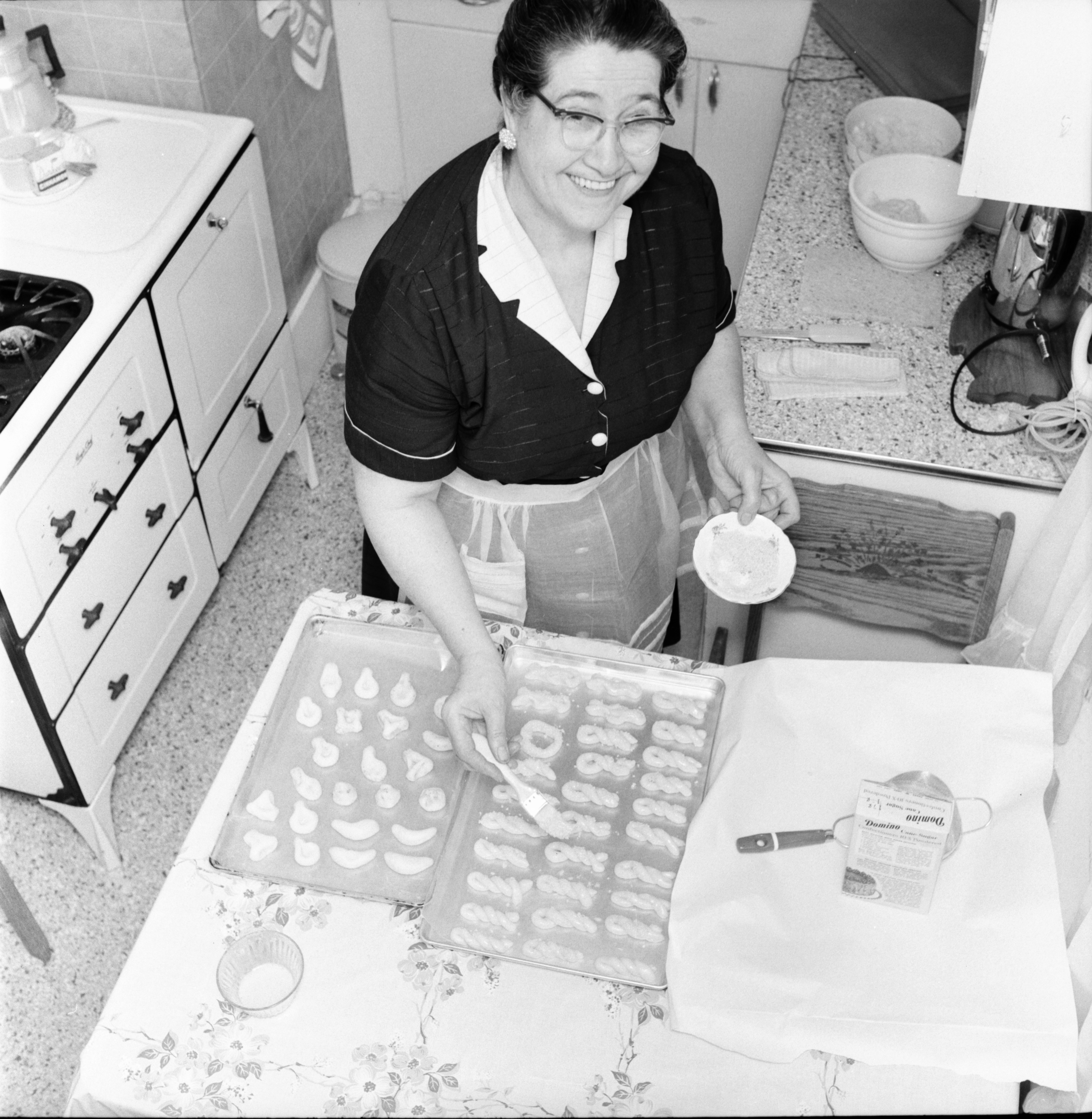 Image from Helen P. Kokales with Greek sweets, October 1959