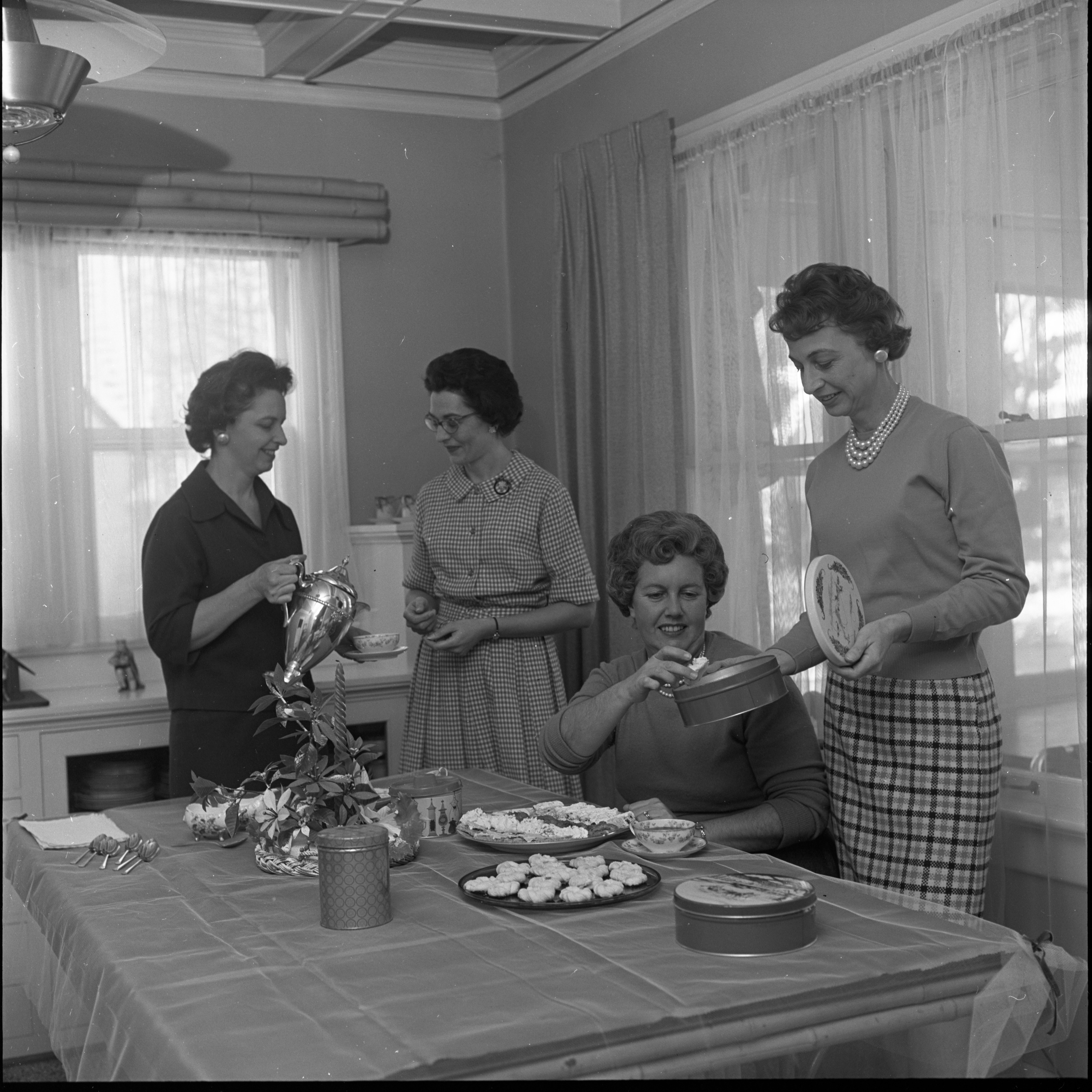 Christmas Cookie Exchange, December 1962 image
