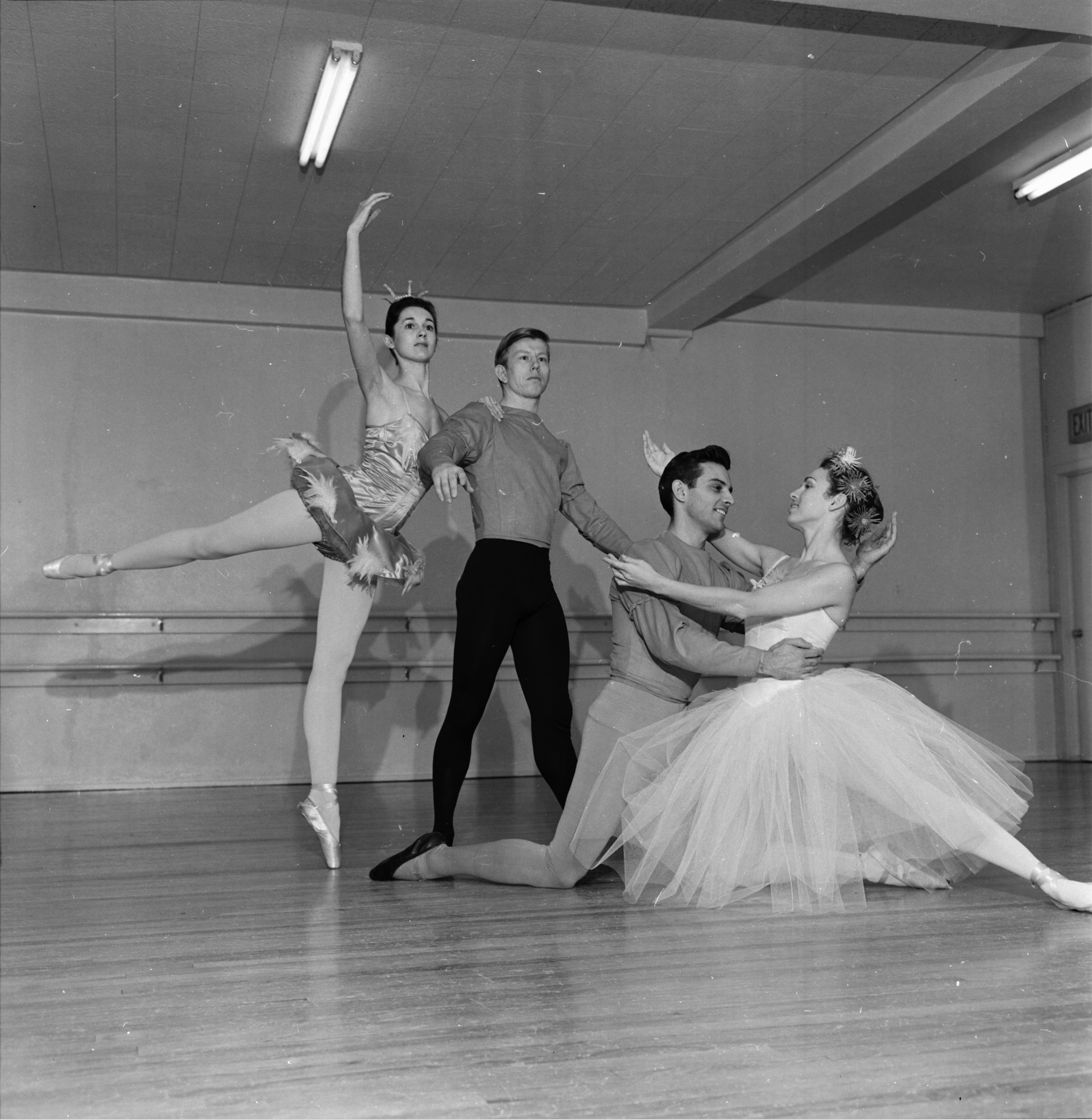 Members of the Ann Arbor Civic Ballet rehearse for the spring concert, April 1965 image