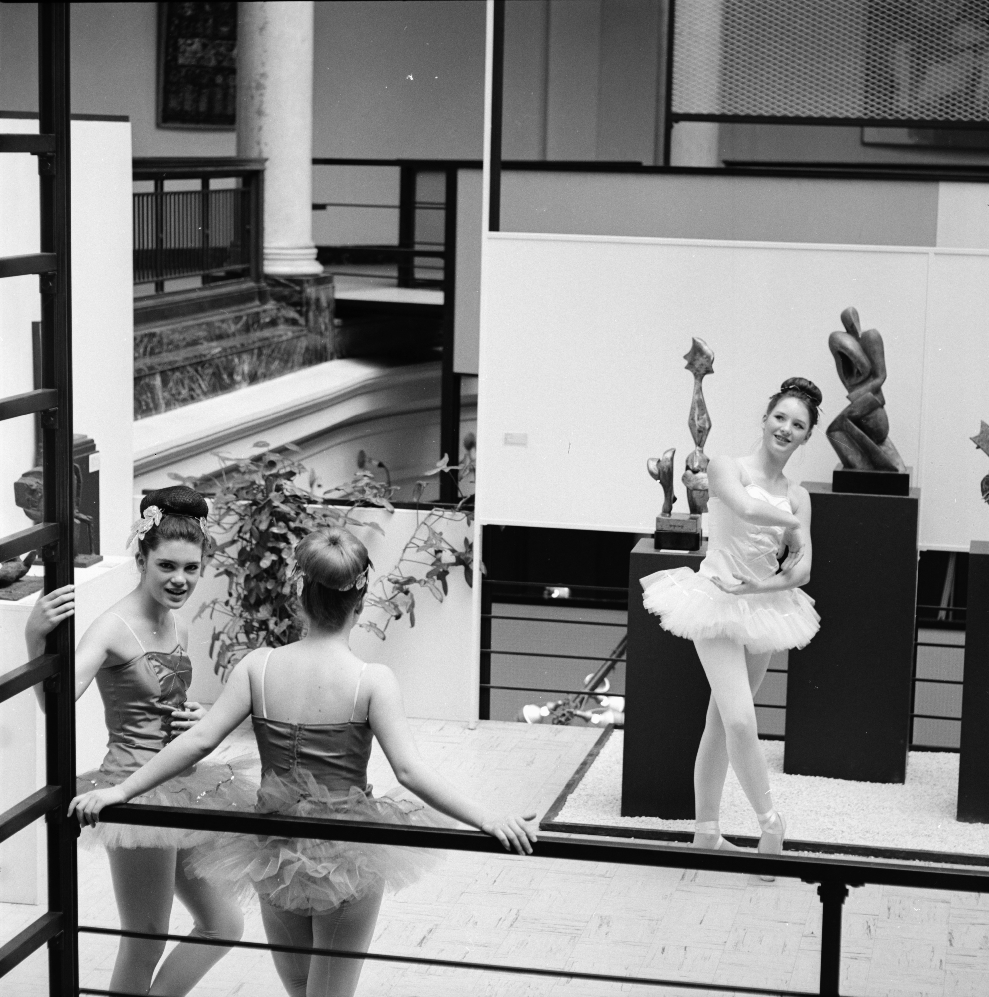 Ann Arbor Civic Ballet members at Alumni Memorial Hall, April 1966 image