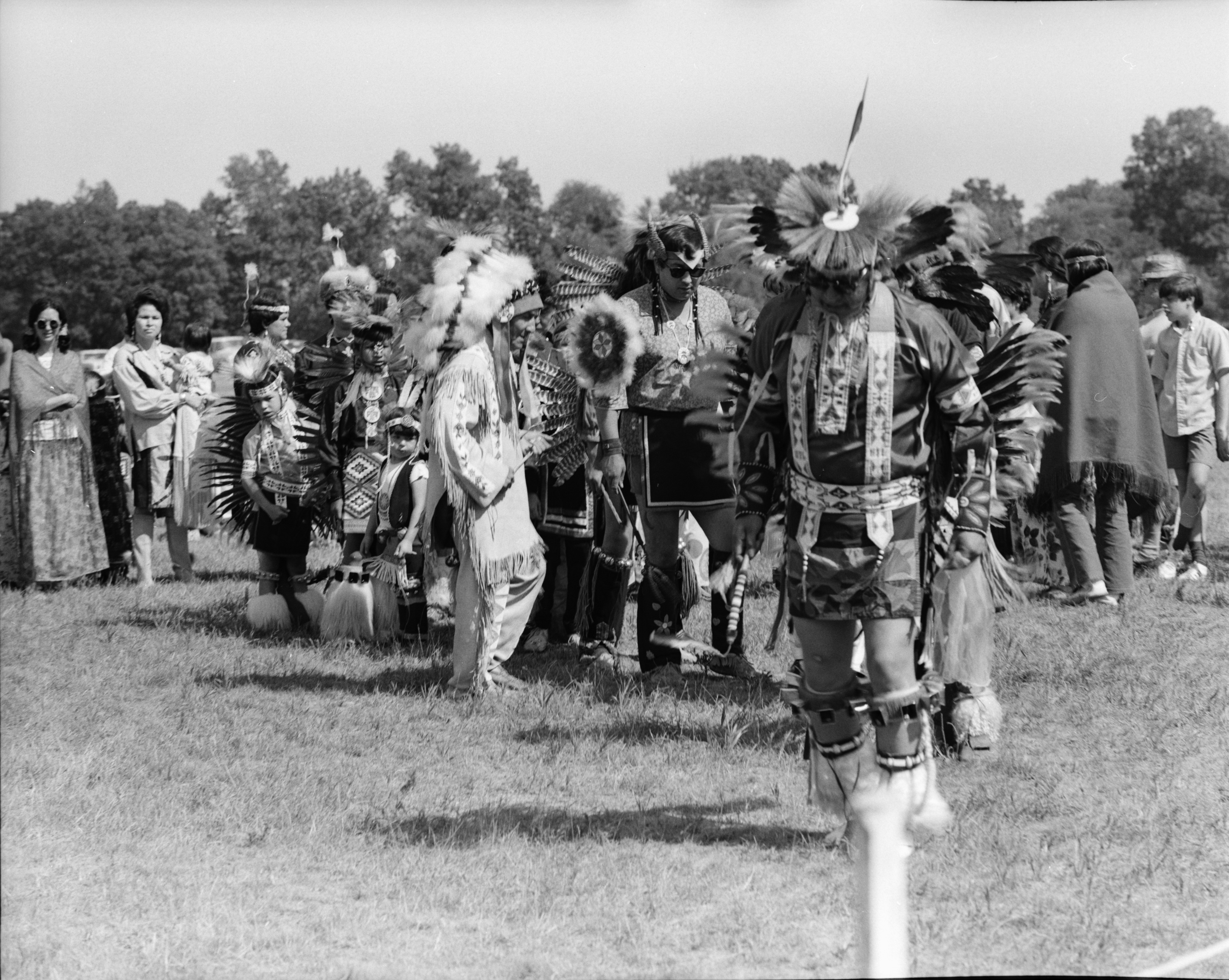 Michigan Indian Powwow, Knights of Columbus Park, Dexter Rd., August 1971 image