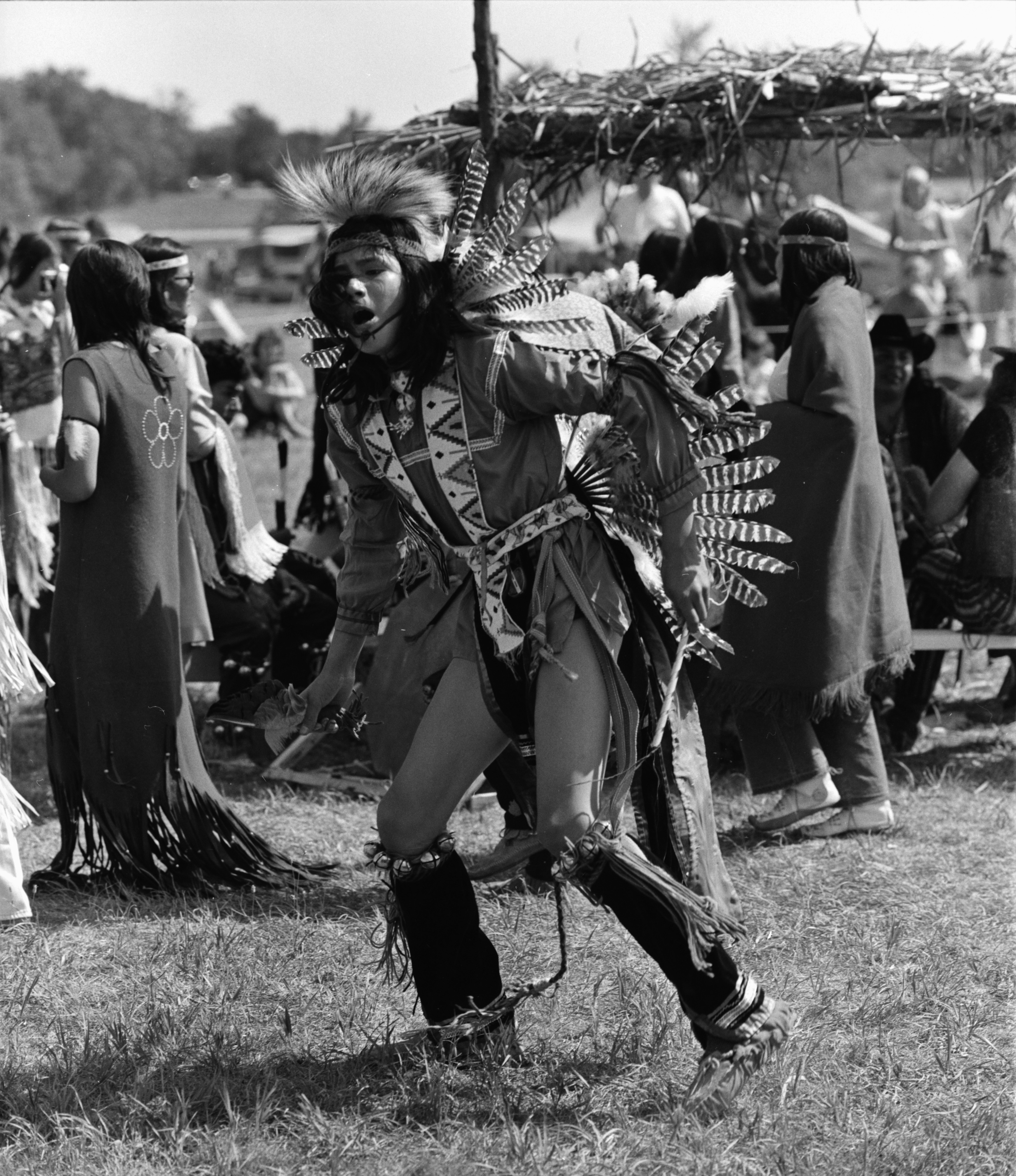 Dancer, Michigan Indian Powwow at Knights of Columbus Park, Dexter Rd., August 1971 image