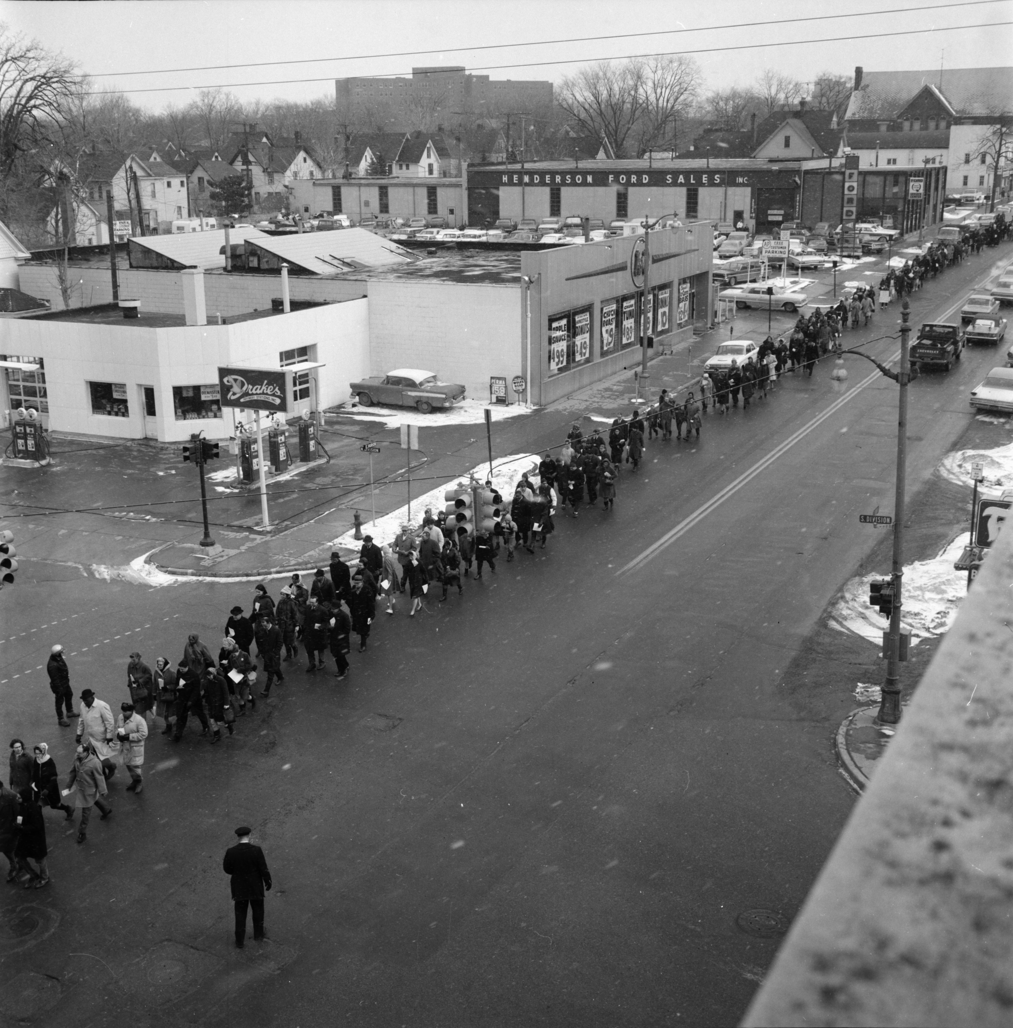 Ann Arbor March of Reparation for Selma, Alabama, March 1965 image