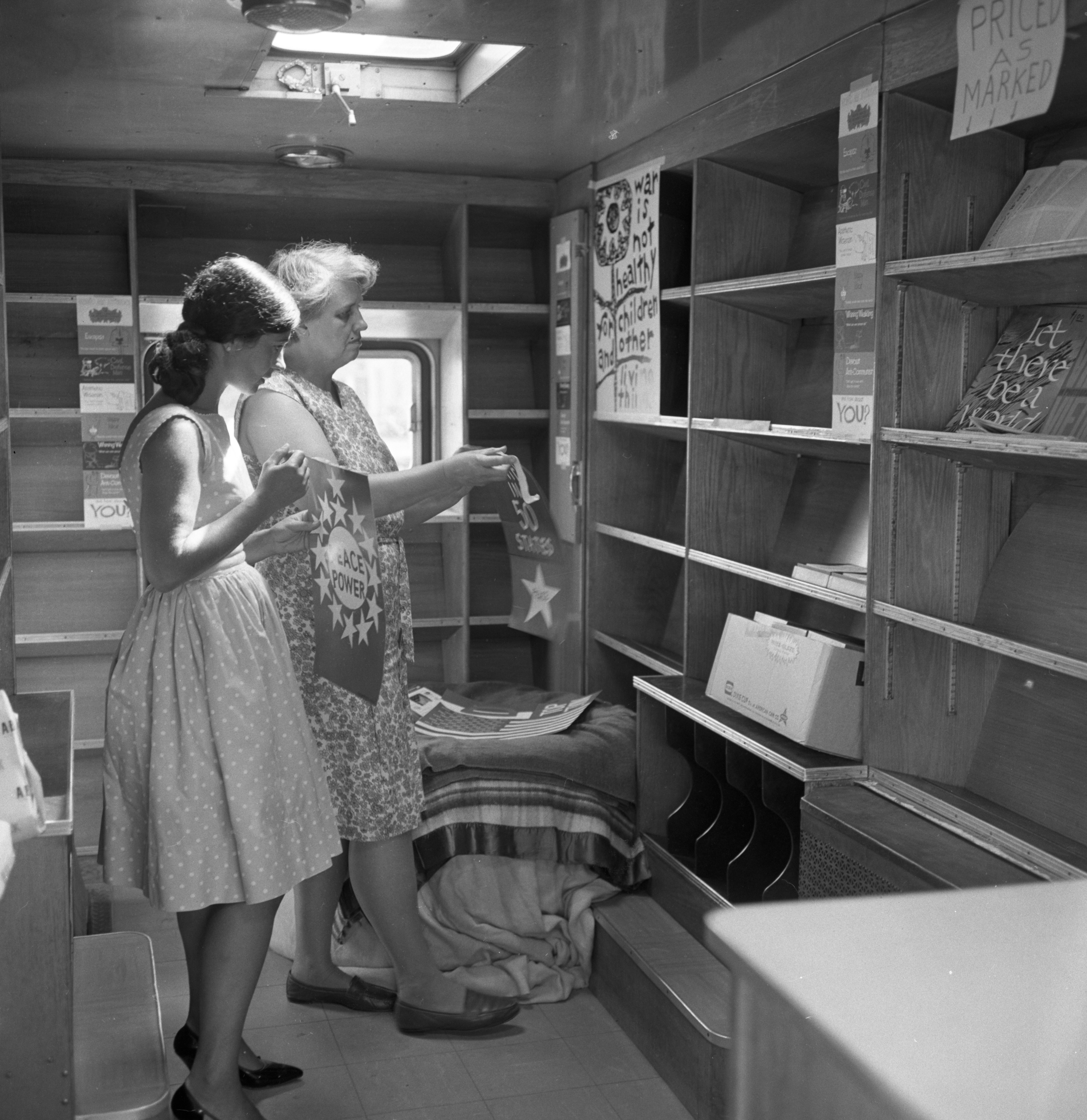 Inside the Peacemobile, July 1967 image