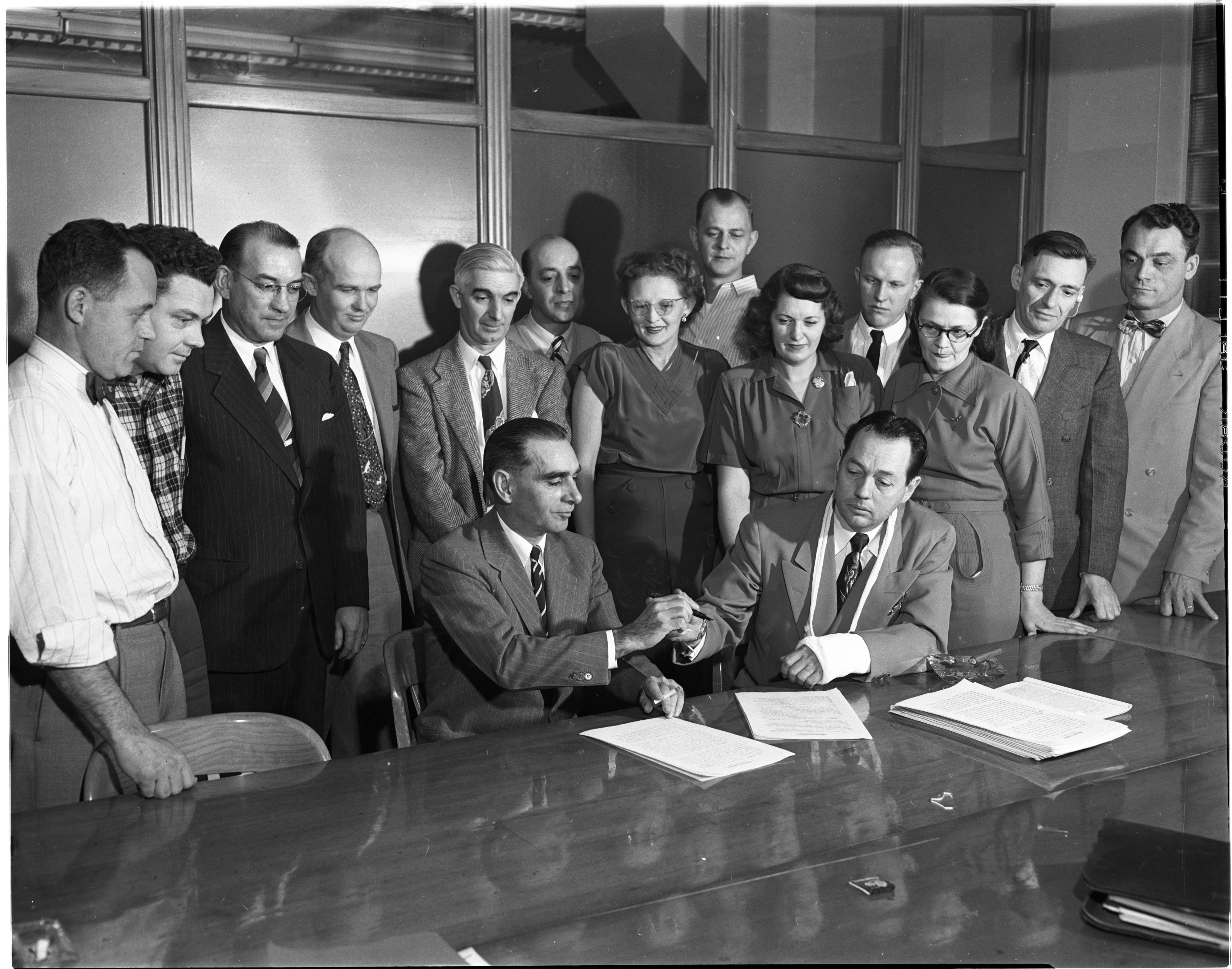 Contract Signed For New Labor Union At King-Seeley Corp, November 1951 image
