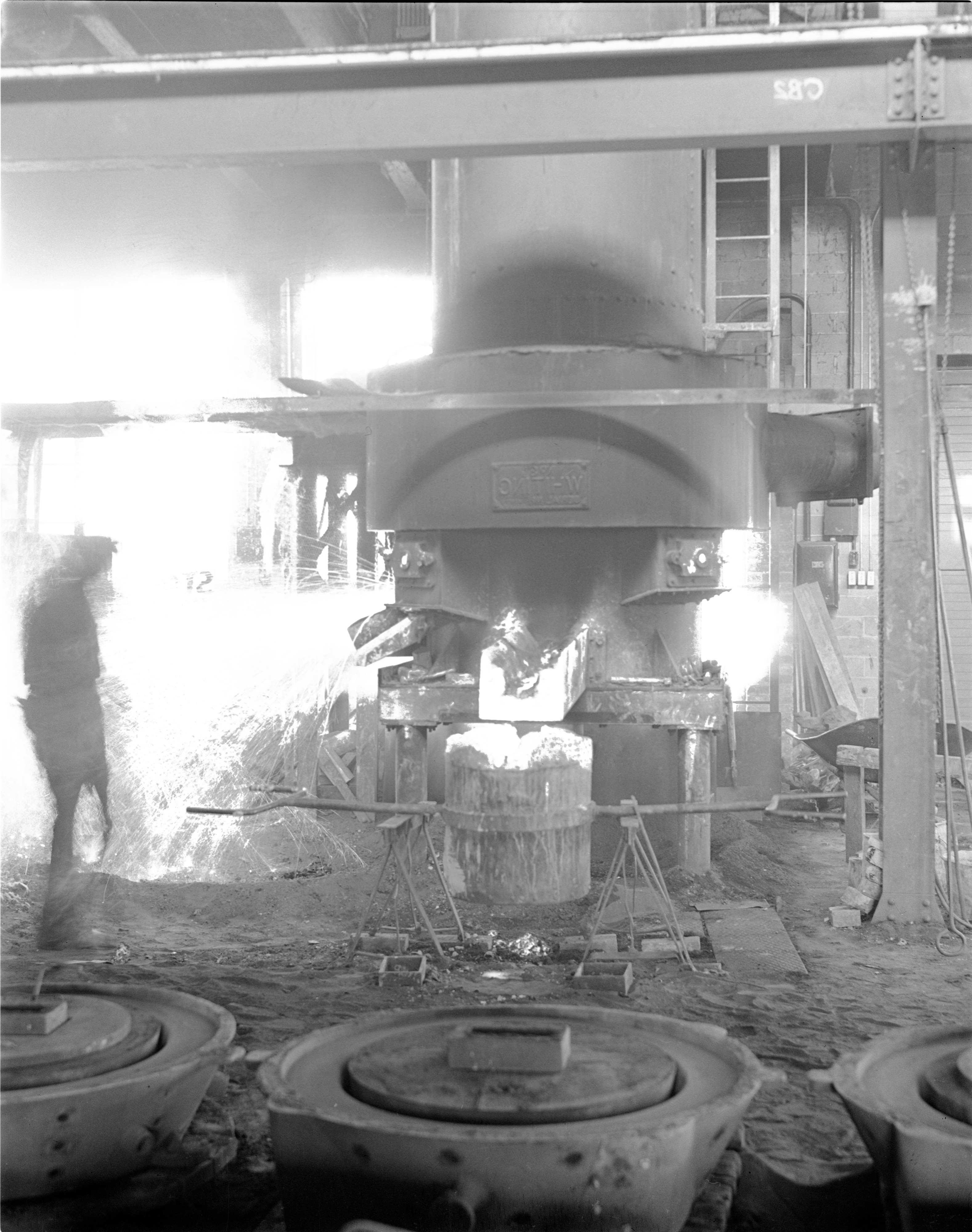 Furnace At The Ann Arbor Foundry, February 1954 image