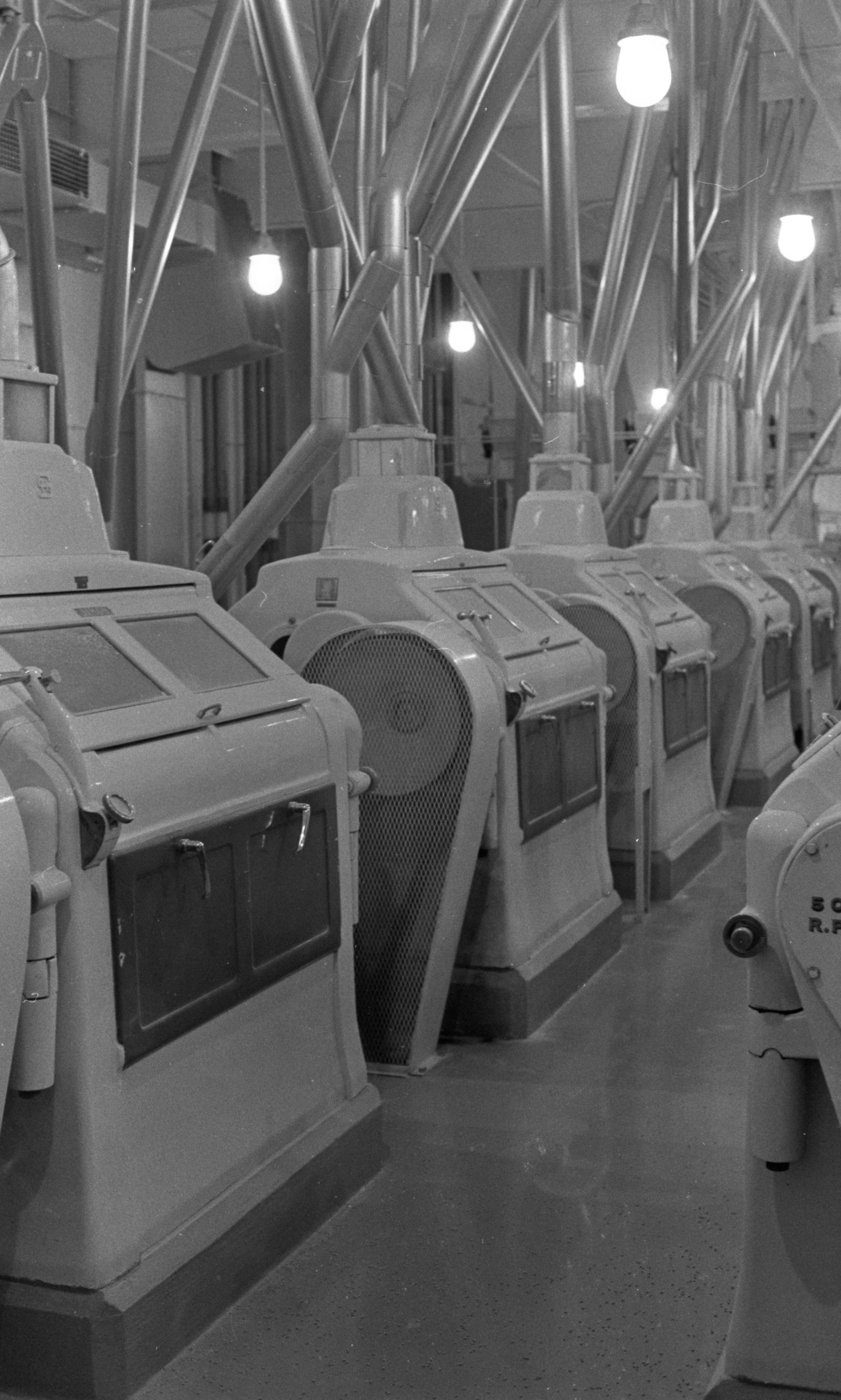 Grain Grinders Inside The Chelsea Milling Company, February 1972 image