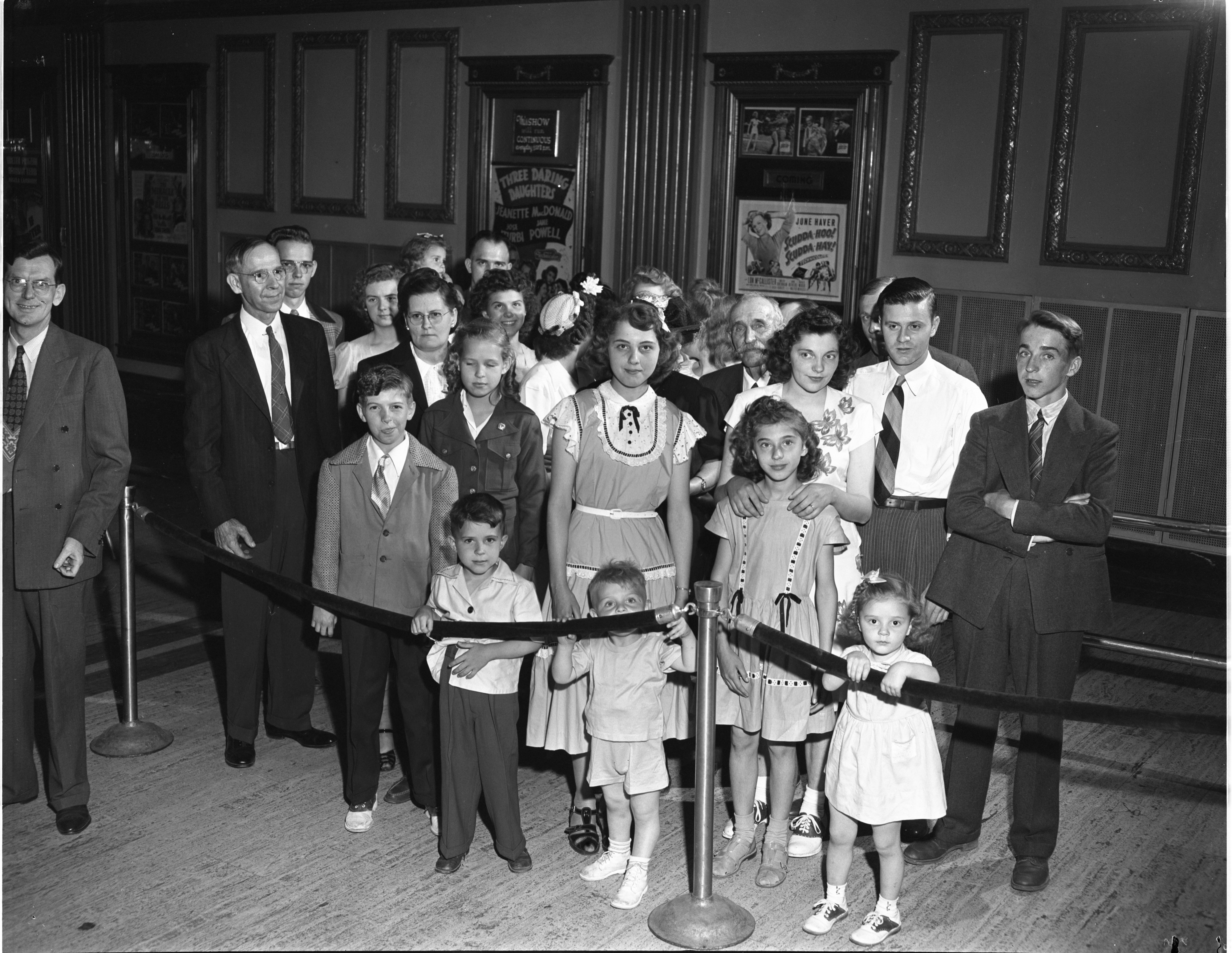 Clarkson F. Warden & Family At The Michigan Theater, June 1948 image