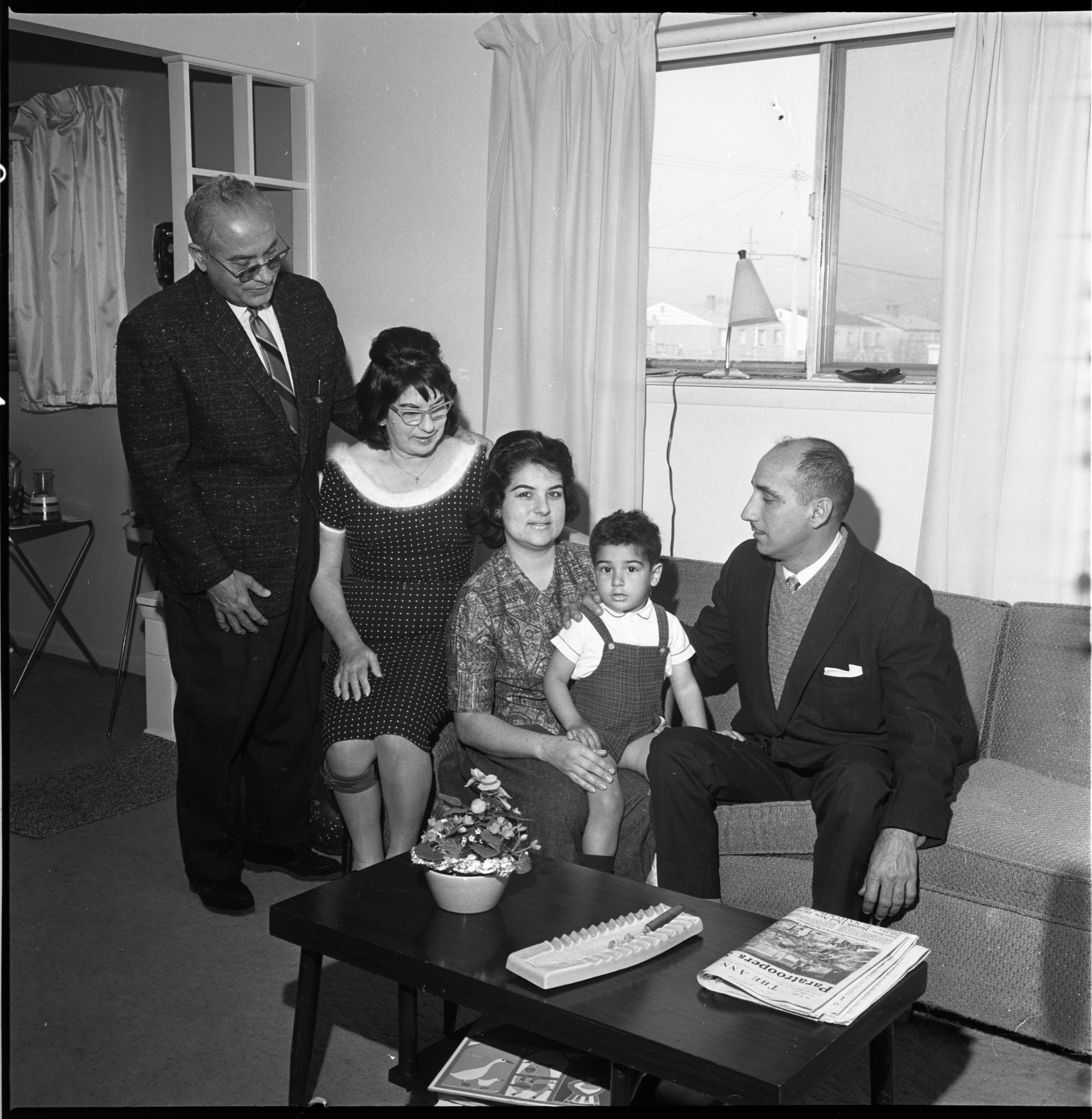 Cuban Refugee Family Celebrates Thanksgiving With Friends In Ann Arbor, November 1964 image